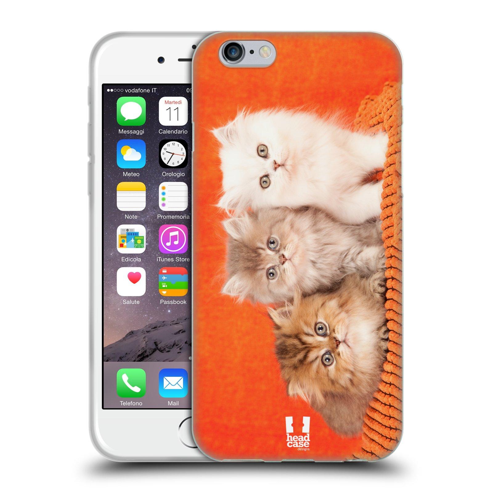HEAD CASE silikonový obal na mobil Apple Iphone 6/6S vzor Kočičky koťata foto 3 kočky