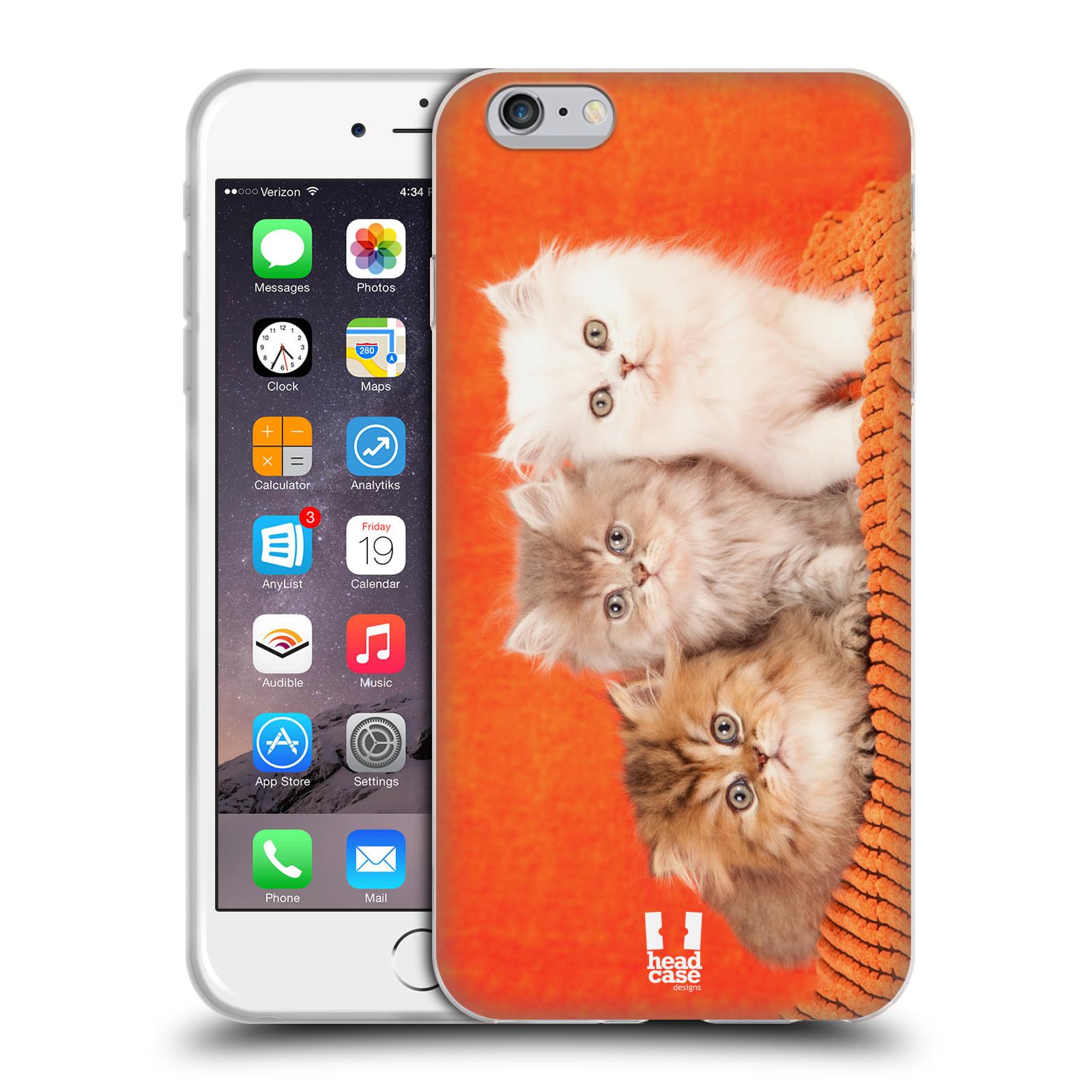 HEAD CASE silikonový obal na mobil Apple Iphone 6 PLUS/ 6S PLUS vzor Kočičky koťata foto 3 kočky