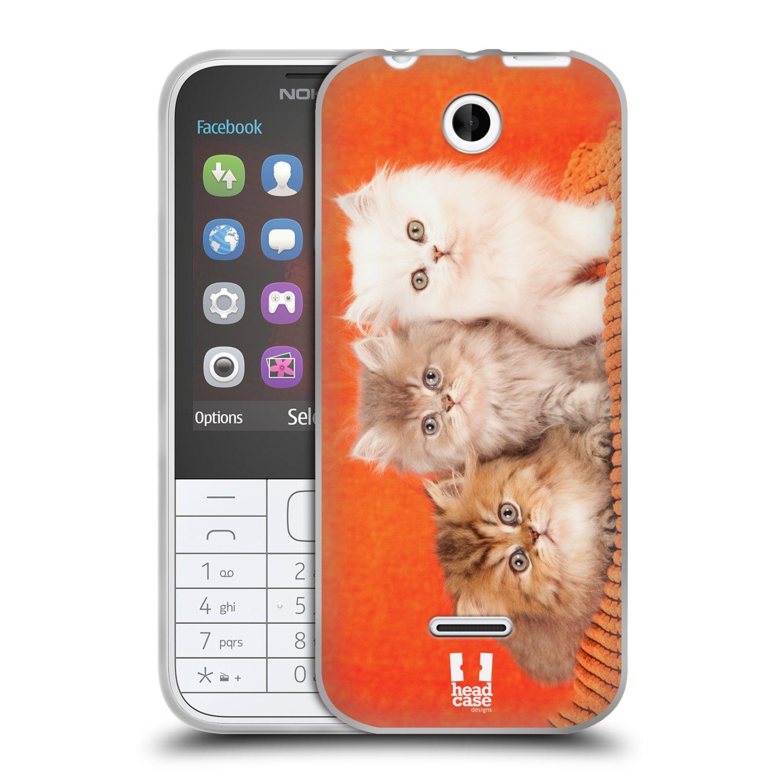 HEAD CASE silikonový obal na mobil NOKIA 225 / NOKIA 225 DUAL SIM vzor Kočičky koťata foto 3 kočky