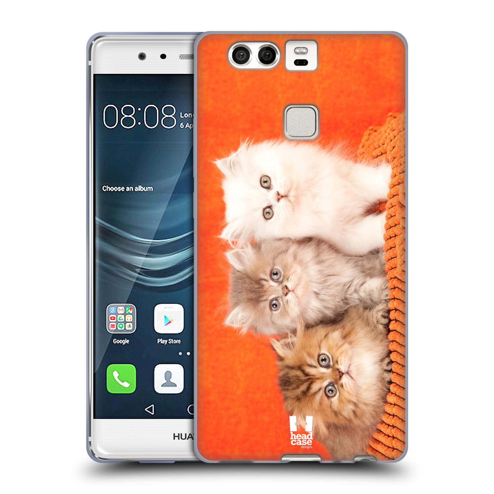 HEAD CASE silikonový obal na mobil Huawei P9 / P9 DUAL SIM vzor Kočičky koťata foto 3 kočky