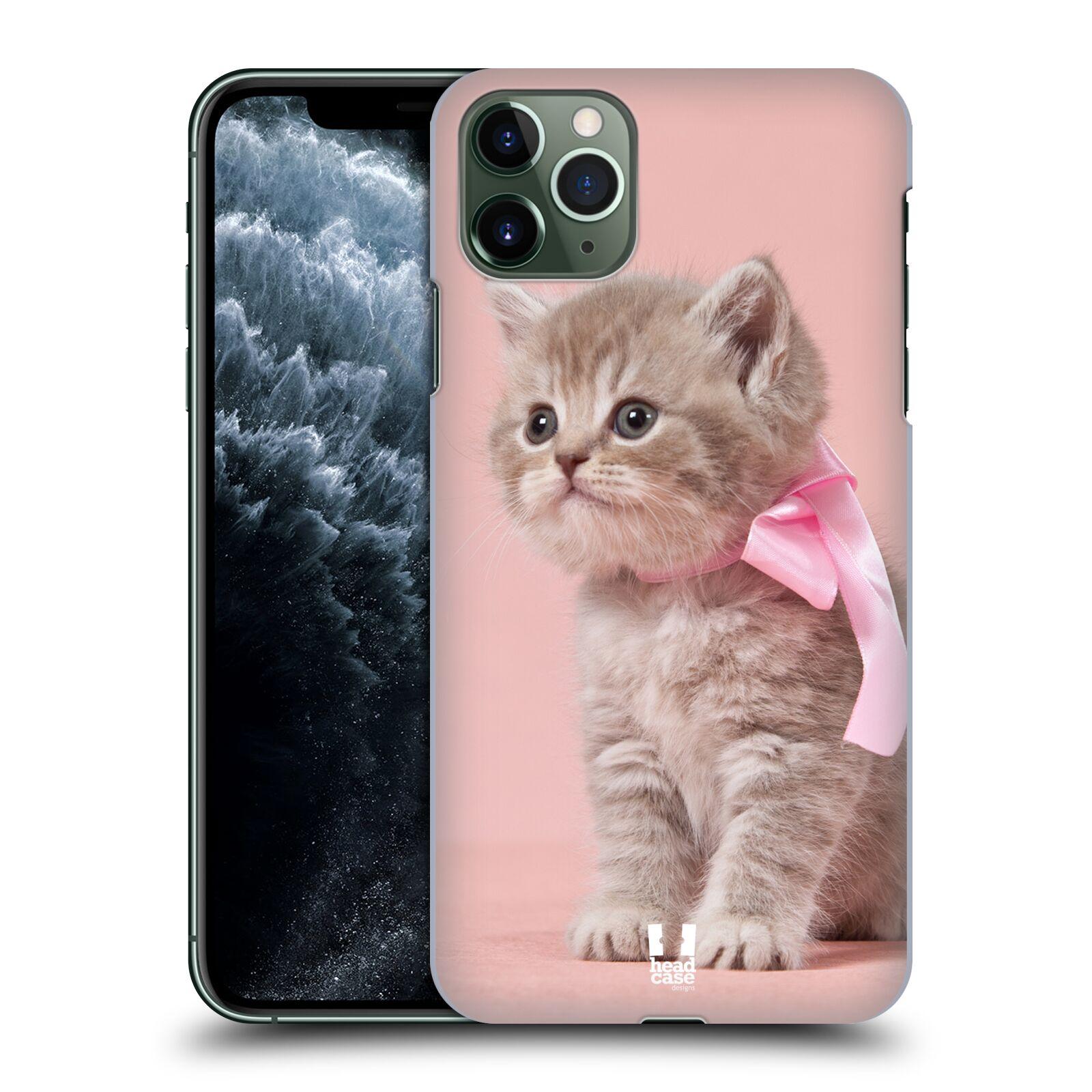 Pouzdro na mobil Apple Iphone 11 PRO MAX - HEAD CASE - vzor Kočičky koťata foto kotě s růžovou mašlí
