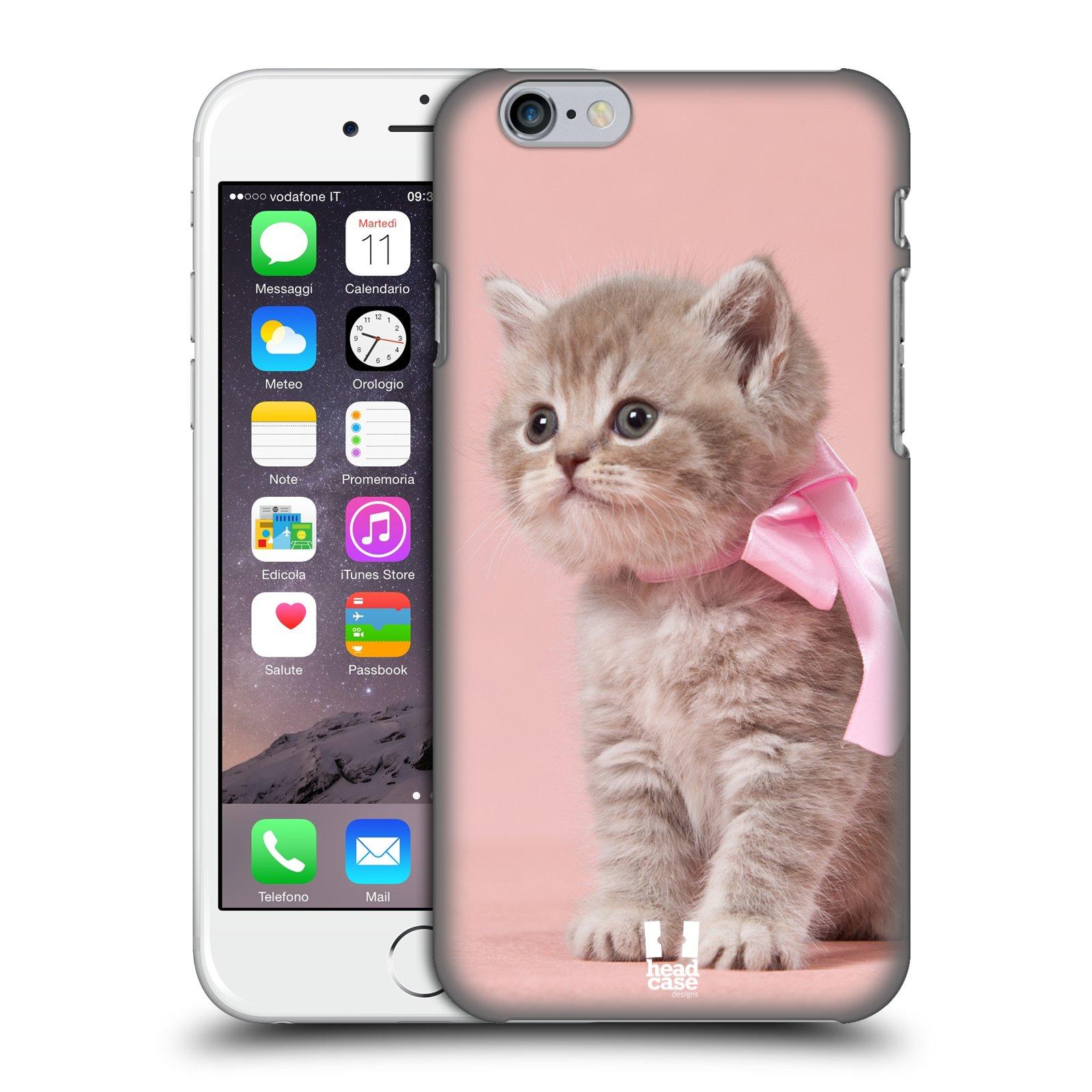 Plastové pouzdro pro mobil Apple Iphone 6/6S vzor Kočičky koťata foto kotě s růžovou mašlí