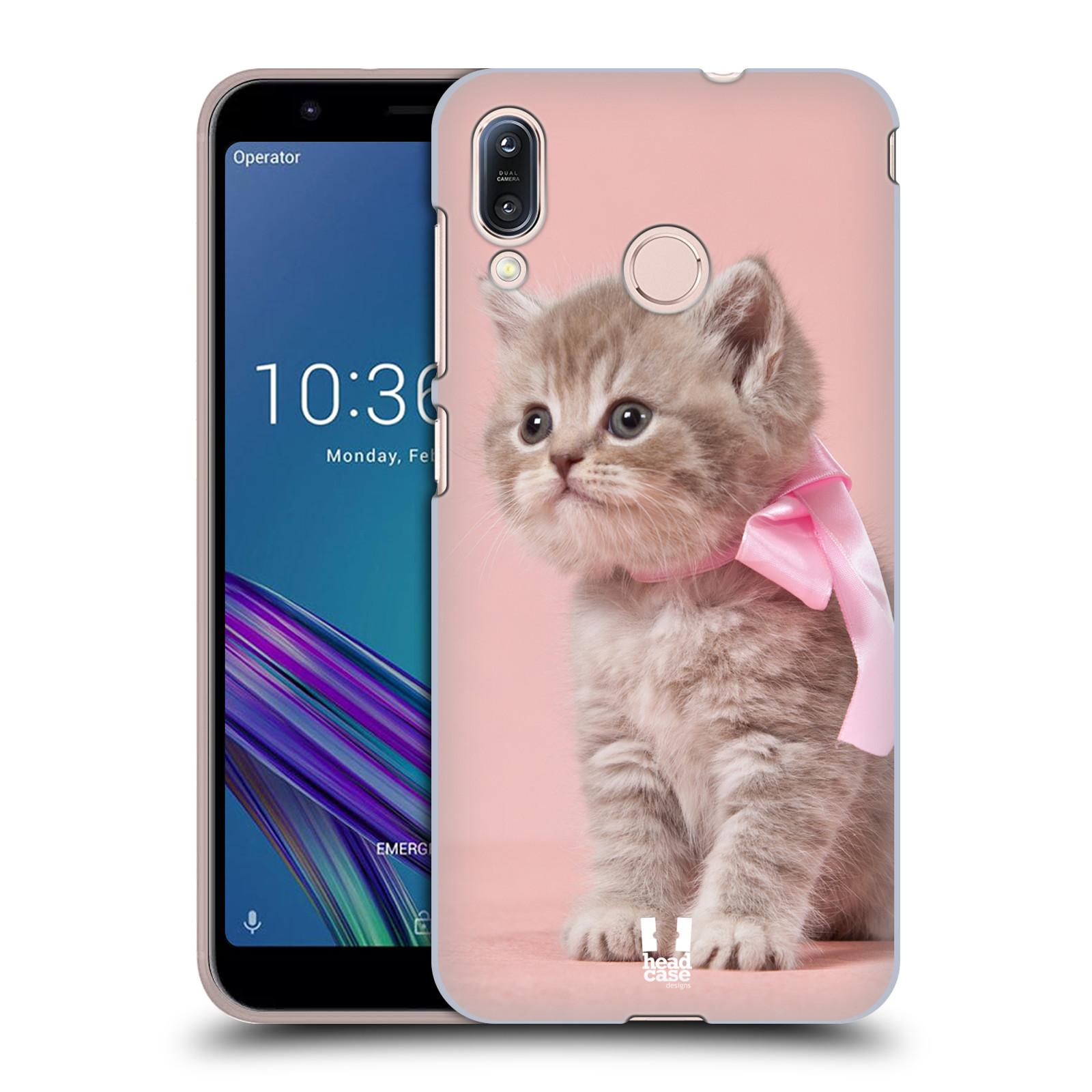 Pouzdro na mobil Asus Zenfone Max M1 (ZB555KL) - HEAD CASE - vzor Kočičky koťata foto kotě s růžovou mašlí