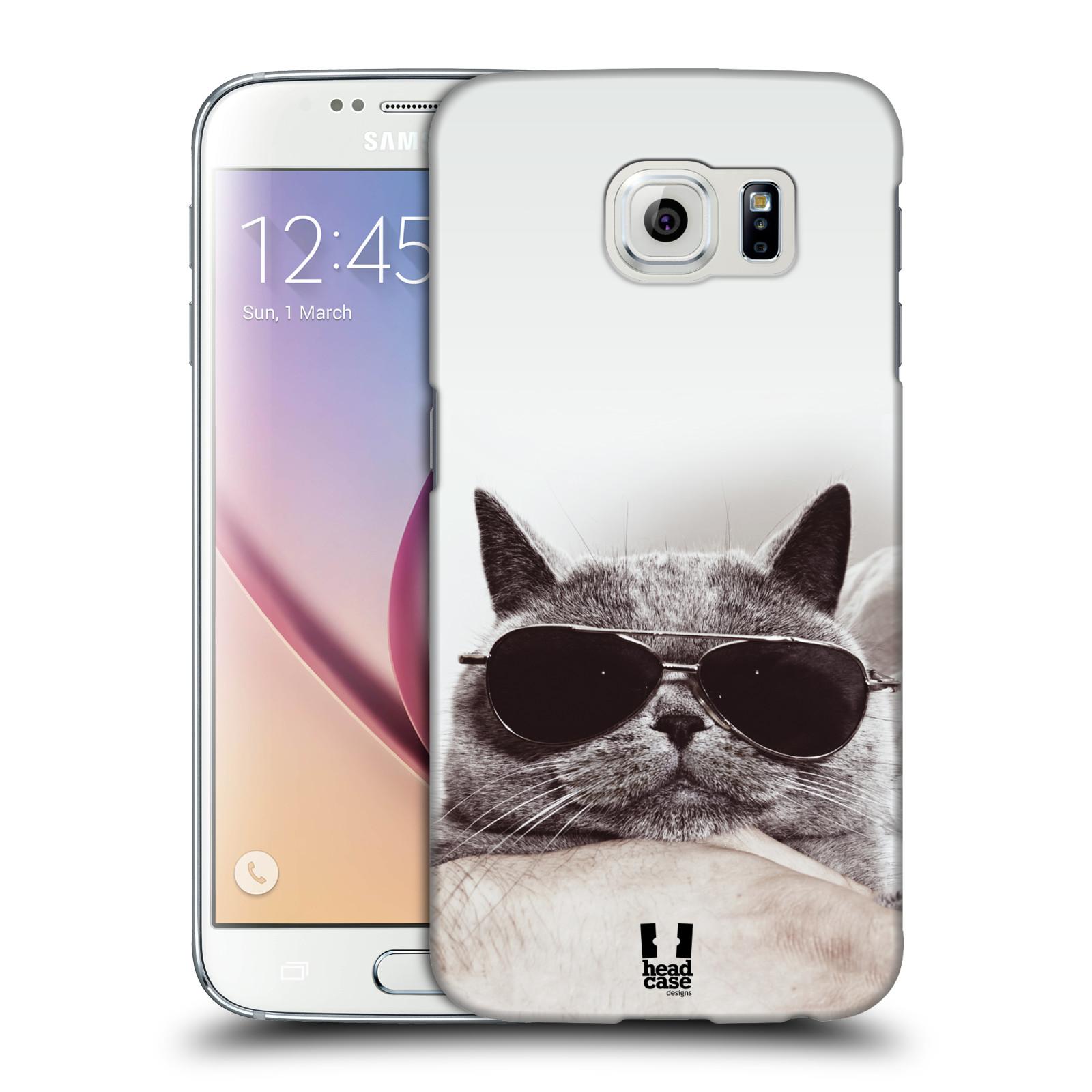 HEAD CASE plastový obal na mobil SAMSUNG Galaxy S6 (G9200, G920F) vzor Kočičky koťata foto Britská kočka v brýlích