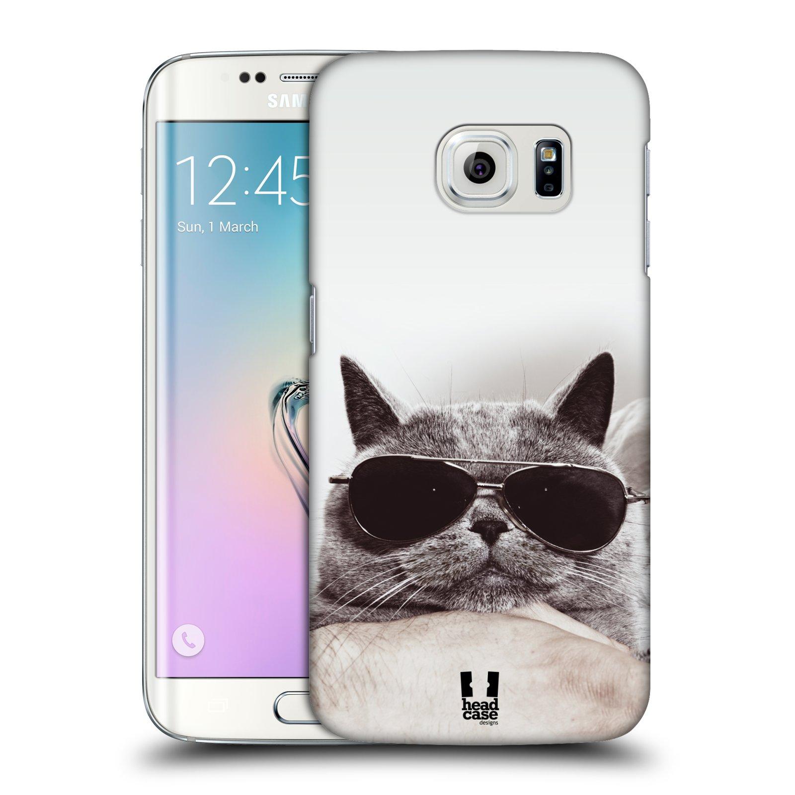 HEAD CASE plastový obal na mobil SAMSUNG Galaxy S6 EDGE (G9250, G925, G925F) vzor Kočičky koťata foto Britská kočka v brýlích