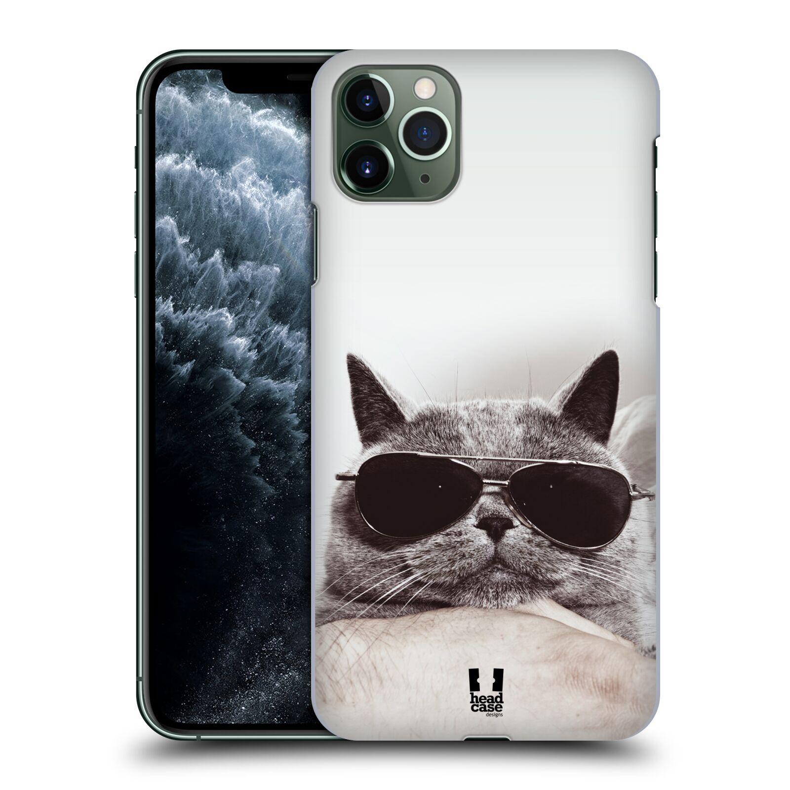 Pouzdro na mobil Apple Iphone 11 PRO MAX - HEAD CASE - vzor Kočičky koťata foto Britská kočka v brýlích