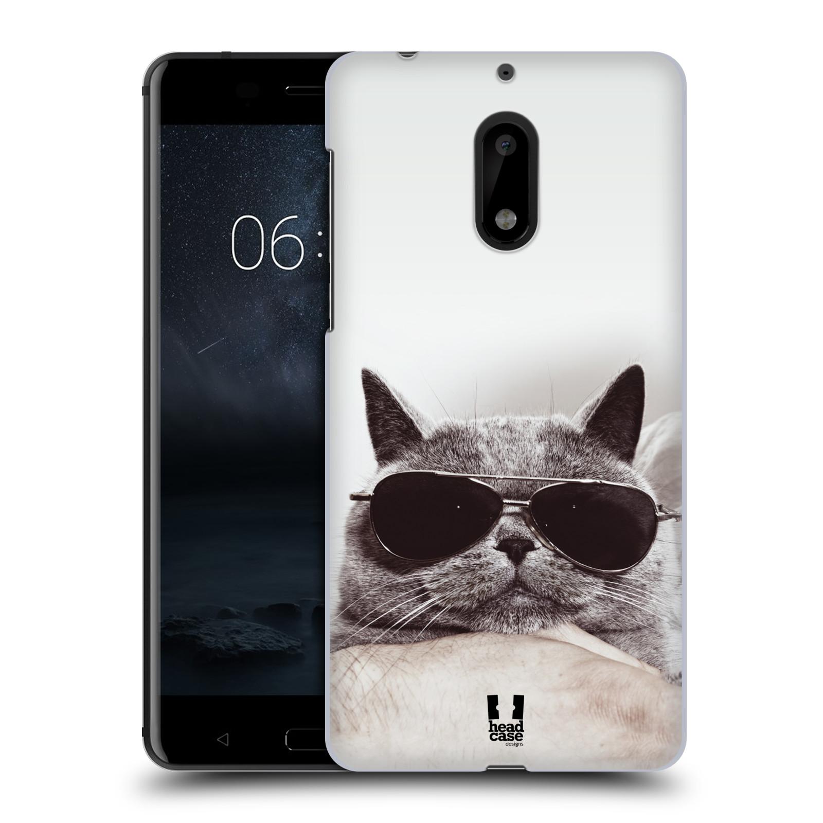 HEAD CASE plastový obal na mobil Nokia 6 vzor Kočičky koťata foto Britská kočka v brýlích