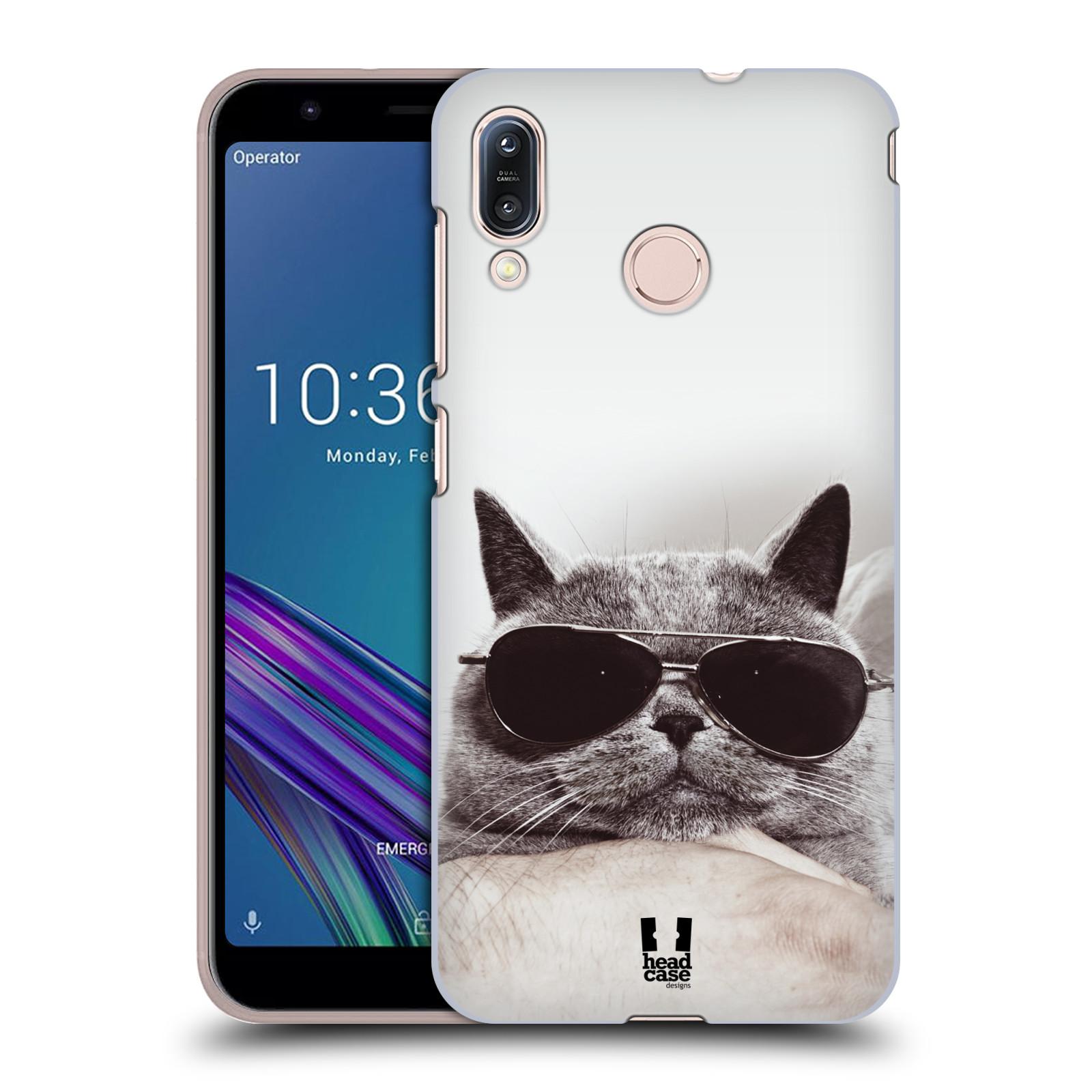 Pouzdro na mobil Asus Zenfone Max M1 (ZB555KL) - HEAD CASE - vzor Kočičky koťata foto Britská kočka v brýlích