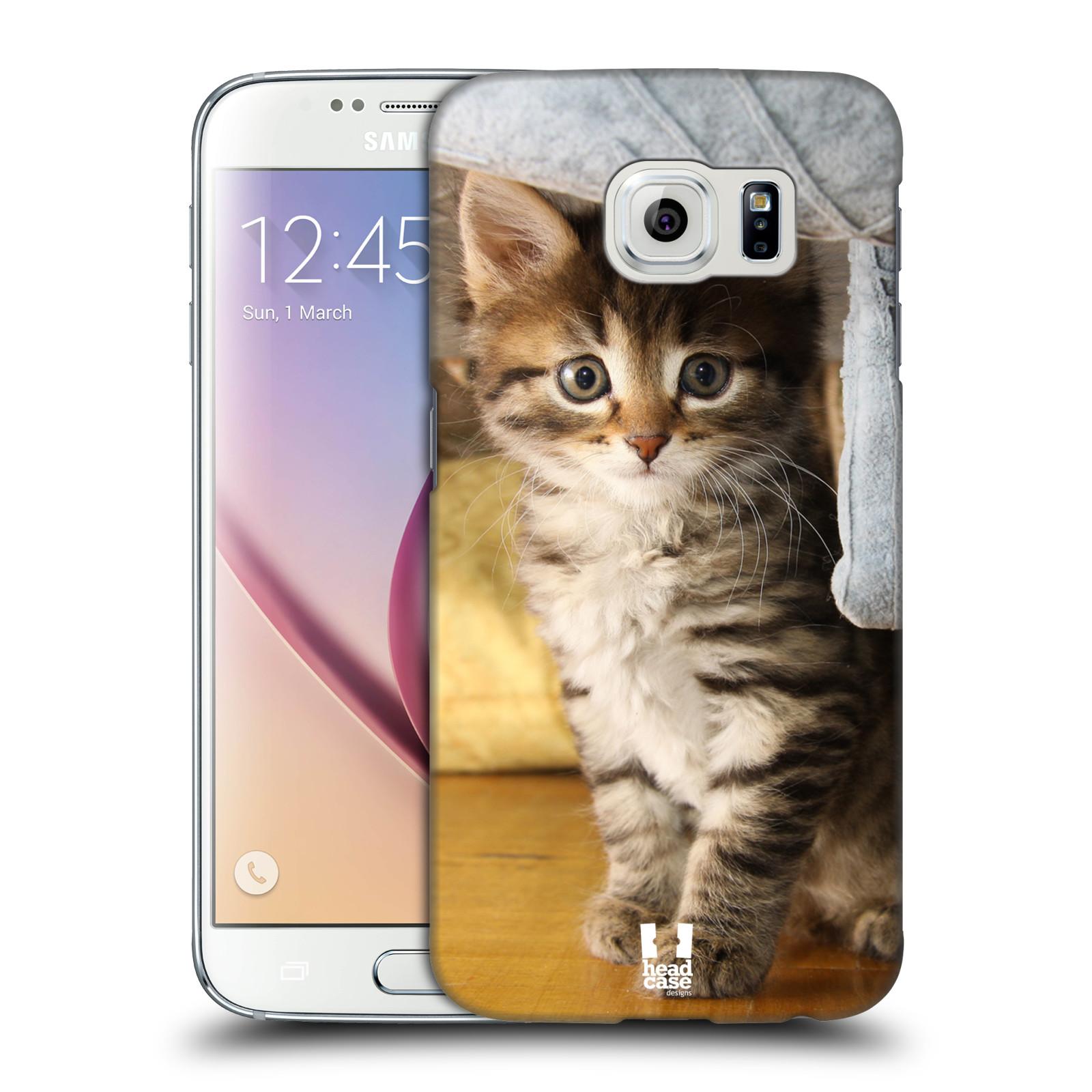HEAD CASE plastový obal na mobil SAMSUNG Galaxy S6 (G9200, G920F) vzor Kočičky koťata foto mourek