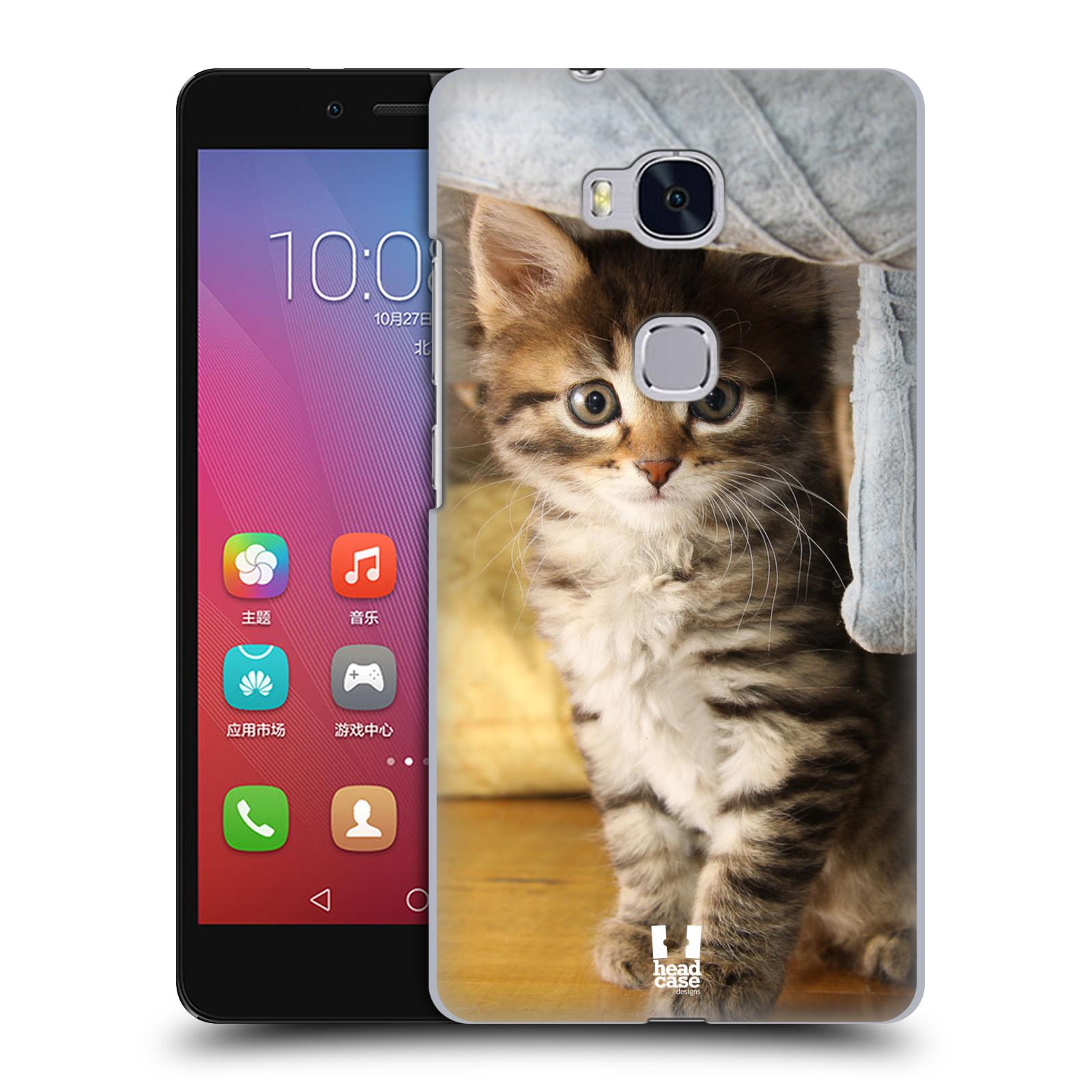 HEAD CASE pevný plastový obal na mobil HUAWEI HONOR 5X vzor Kočičky koťata foto mourek