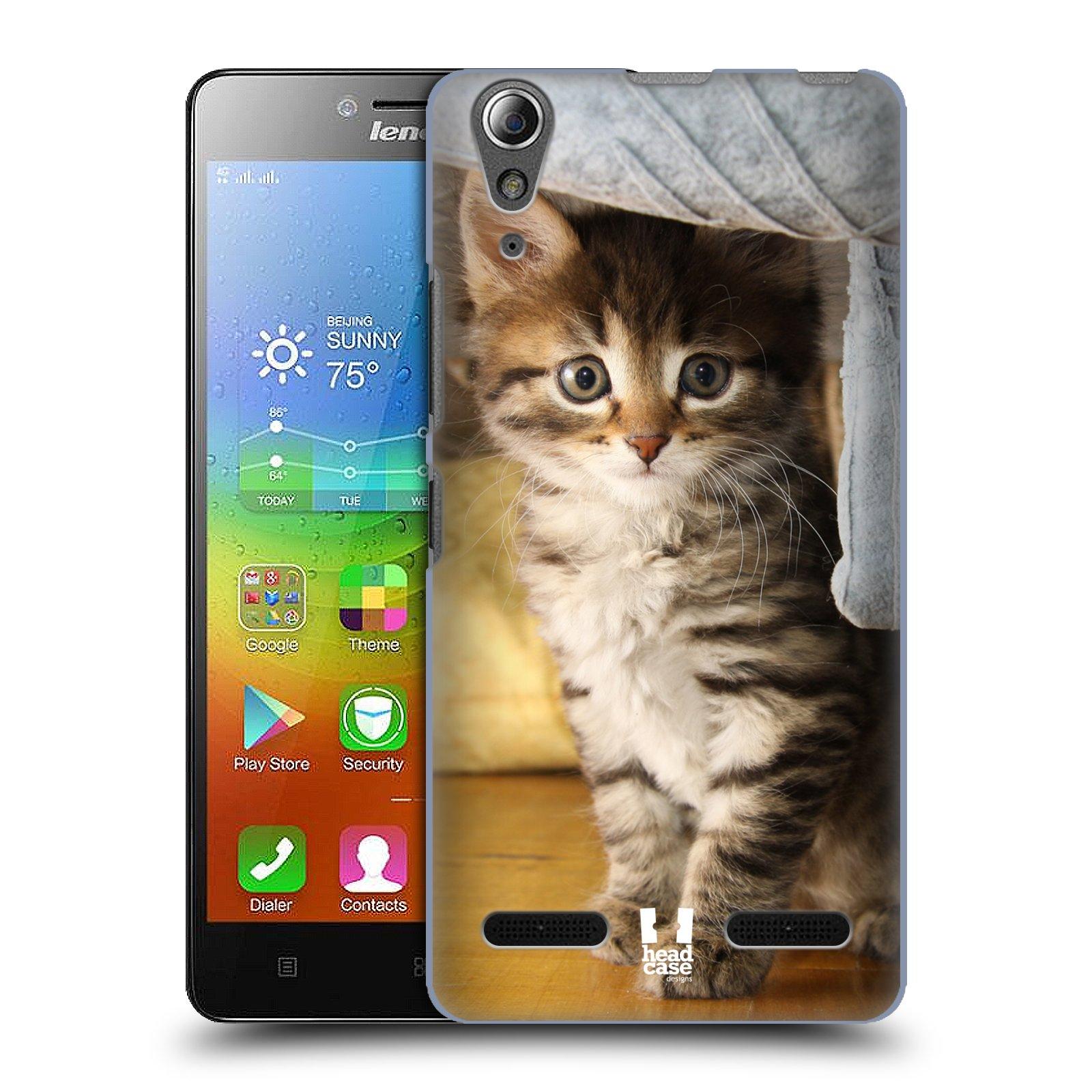 HEAD CASE pevný plastový obal na mobil LENOVO A6000 / A6000 PLUS vzor Kočičky koťata foto mourek