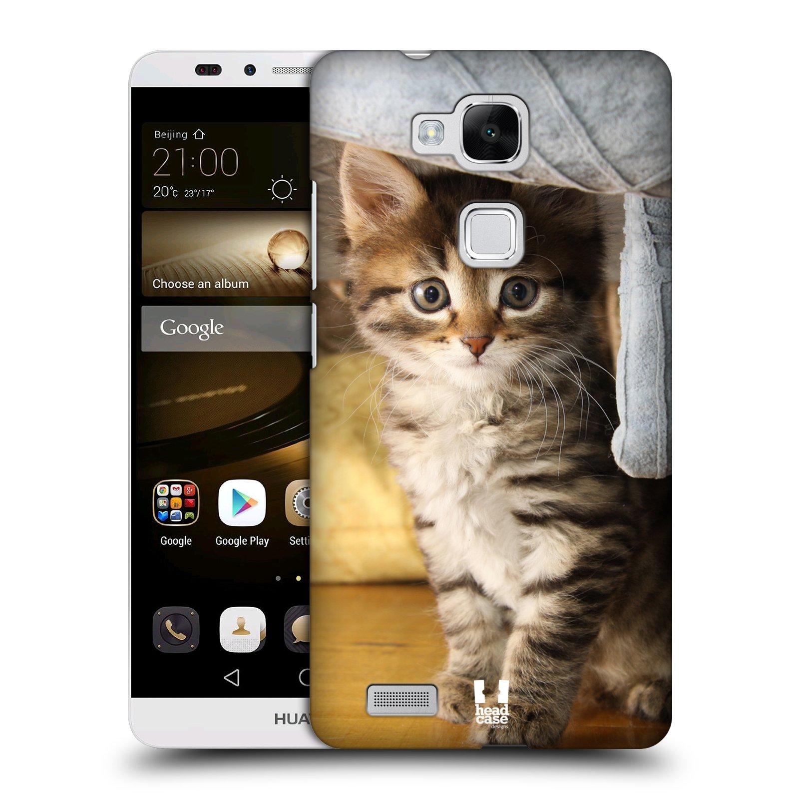 HEAD CASE plastový obal na mobil Huawei Mate 7 vzor Kočičky koťata foto mourek
