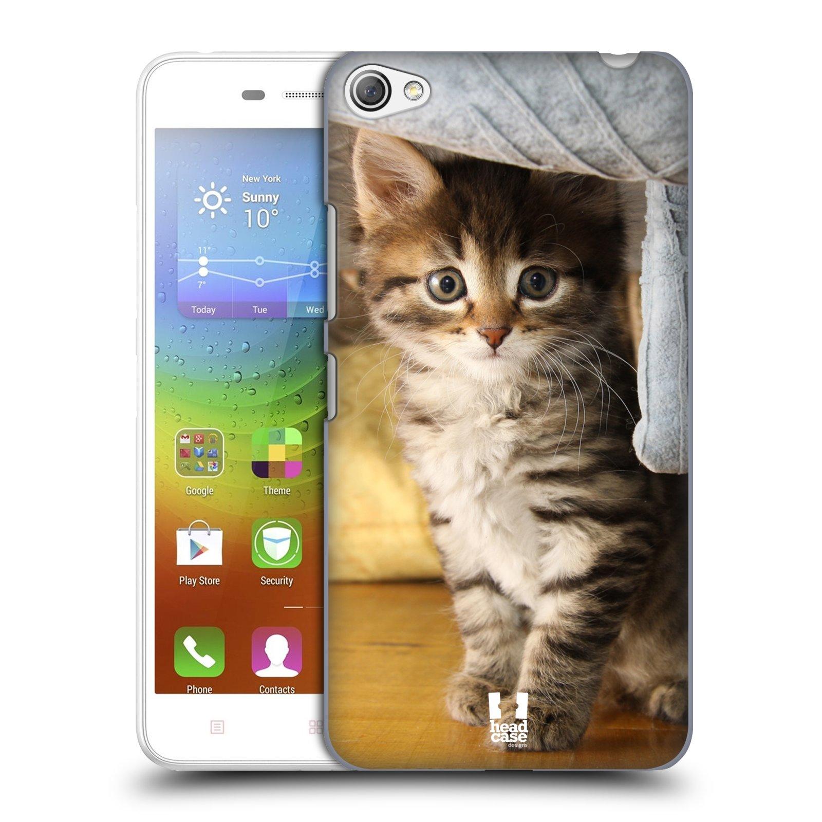 HEAD CASE pevný plastový obal na mobil LENOVO S60 / LENOVO S60 DUAL SIM vzor Kočičky koťata foto mourek