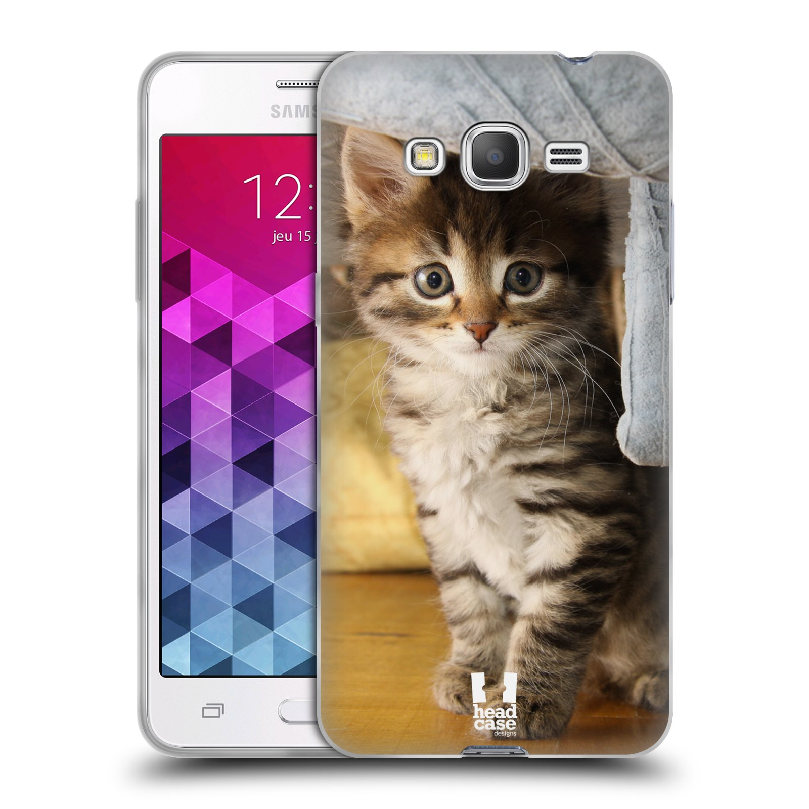 Head case cats silicone gel case for samsung galaxy grand for Housse samsung grand prime