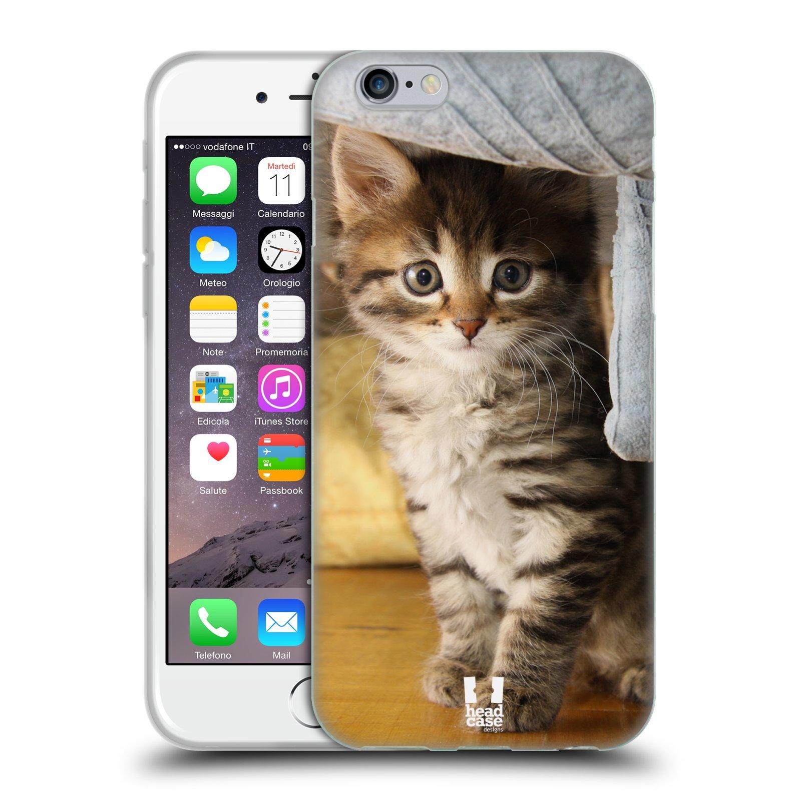 HEAD CASE silikonový obal na mobil Apple Iphone 6/6S vzor Kočičky koťata foto mourek