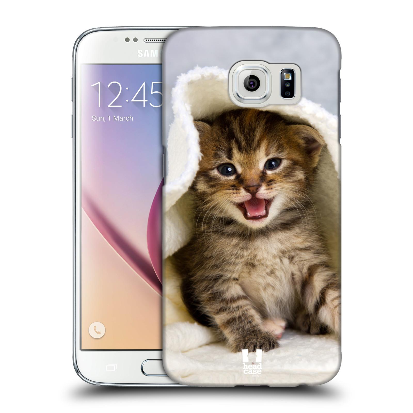 HEAD CASE plastový obal na mobil SAMSUNG Galaxy S6 (G9200, G920F) vzor Kočičky koťata foto kotě v ručníku