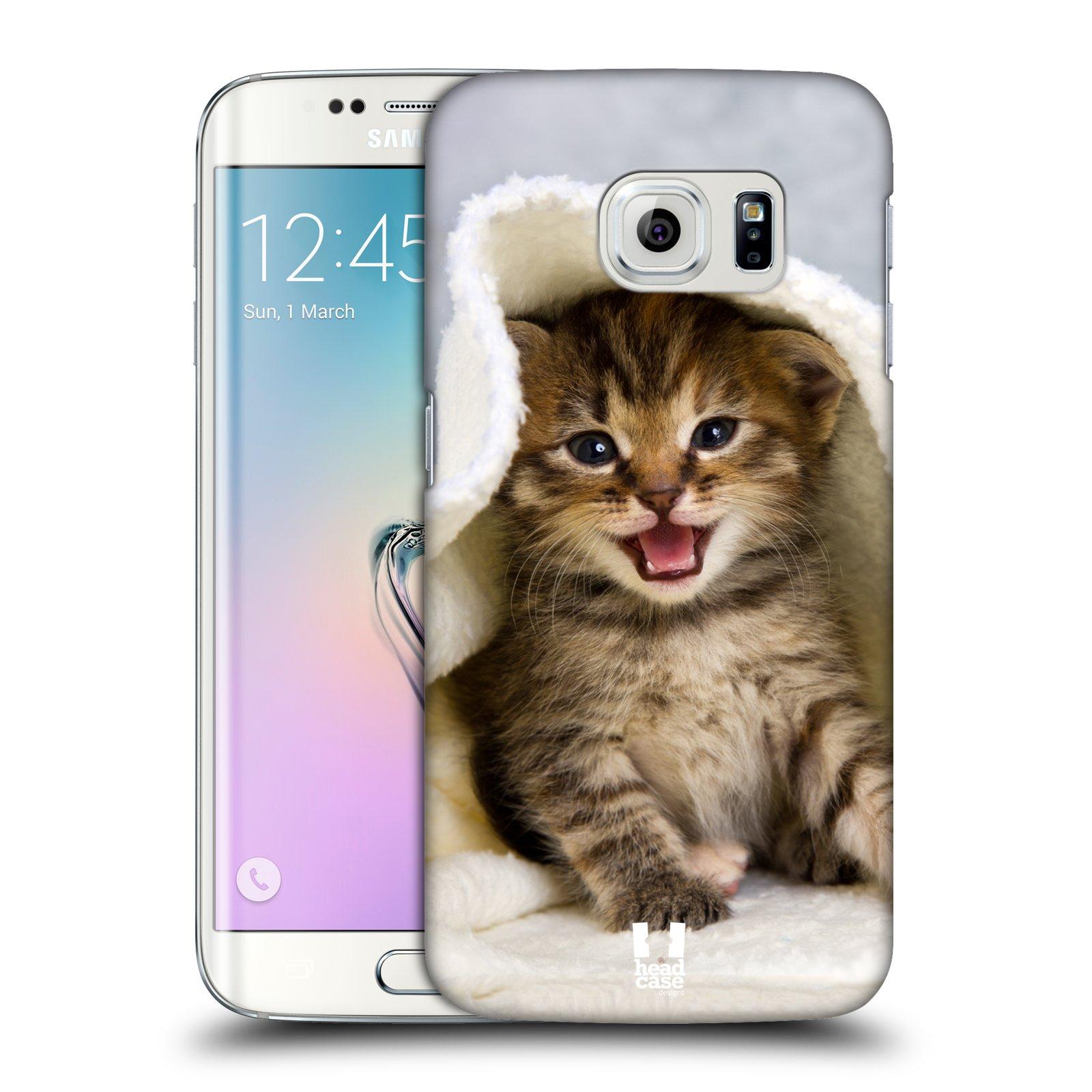 HEAD CASE plastový obal na mobil SAMSUNG Galaxy S6 EDGE (G9250, G925, G925F) vzor Kočičky koťata foto kotě v ručníku