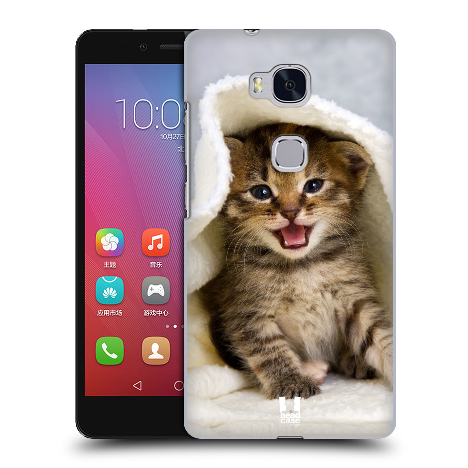 HEAD CASE pevný plastový obal na mobil HUAWEI HONOR 5X vzor Kočičky koťata foto kotě v ručníku
