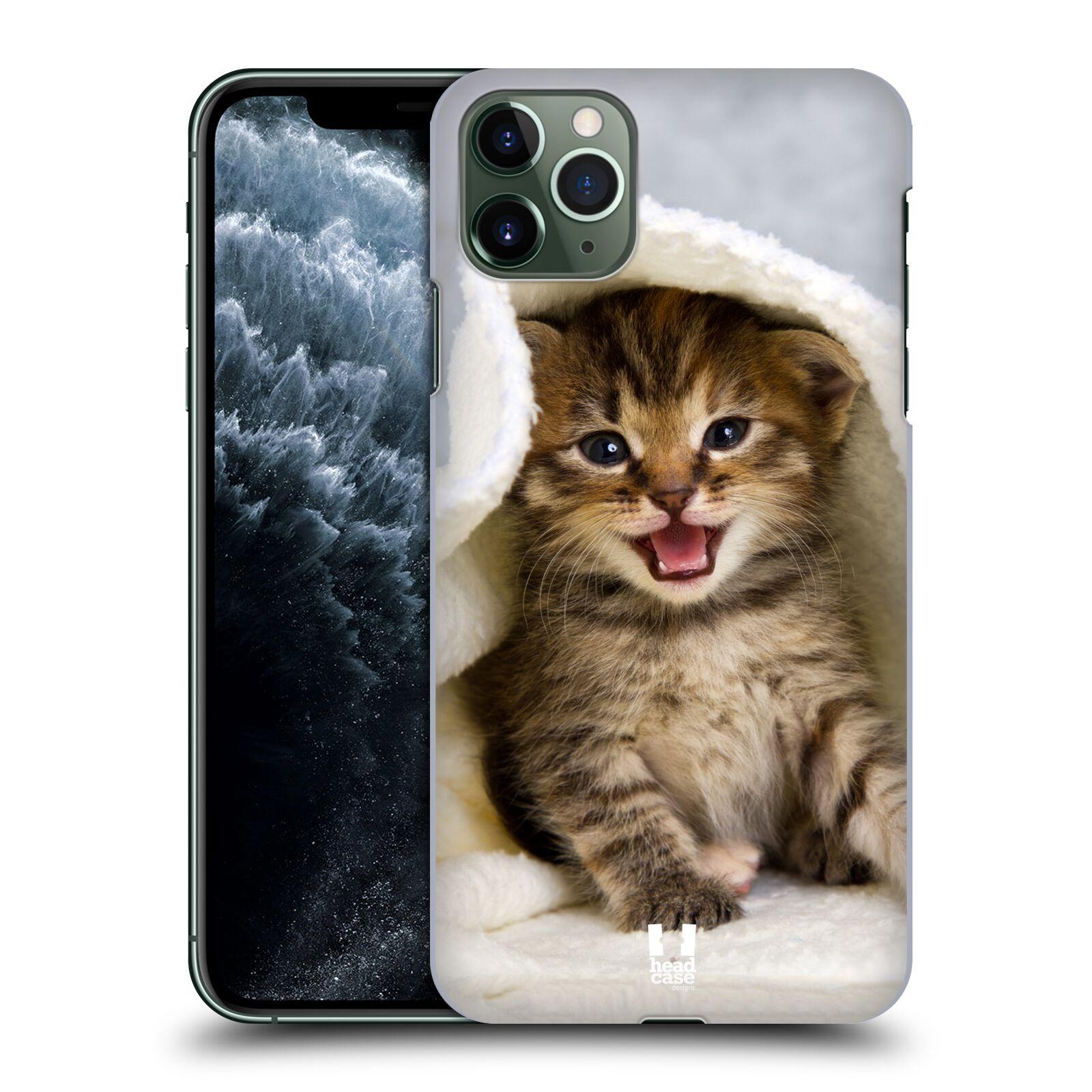 Pouzdro na mobil Apple Iphone 11 PRO MAX - HEAD CASE - vzor Kočičky koťata foto kotě v ručníku