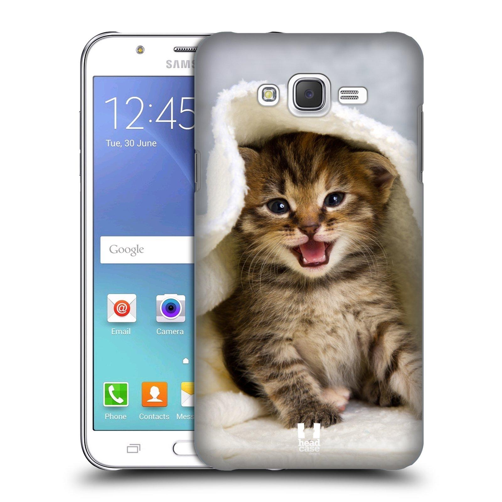 HEAD CASE plastový obal na mobil SAMSUNG Galaxy J7, J700 vzor Kočičky koťata foto kotě v ručníku