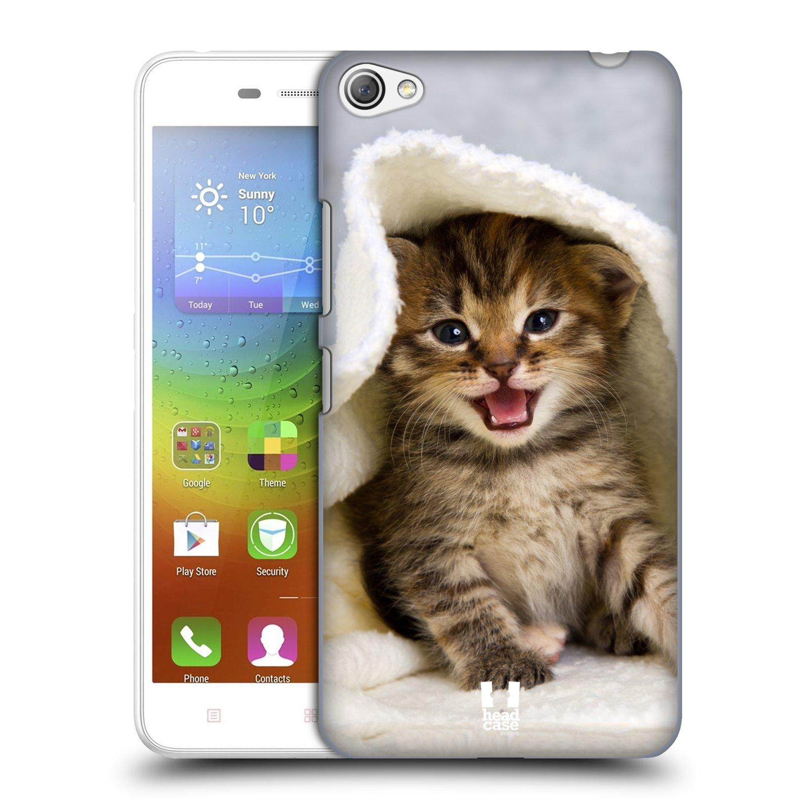 HEAD CASE pevný plastový obal na mobil LENOVO S60 / LENOVO S60 DUAL SIM vzor Kočičky koťata foto kotě v ručníku