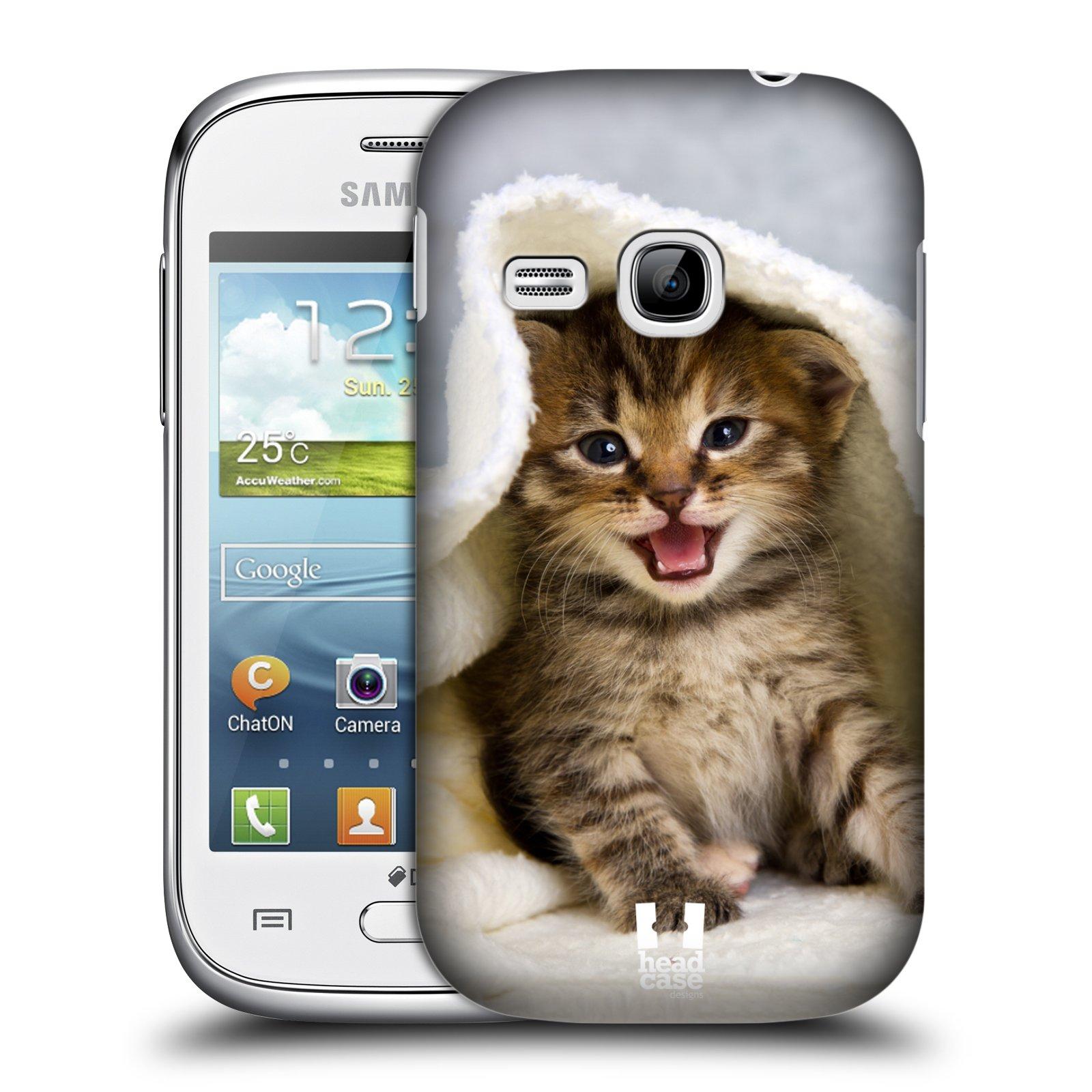 HEAD CASE plastový obal na mobil SAMSUNG Galaxy Young S6310 vzor Kočičky koťata foto kotě v ručníku