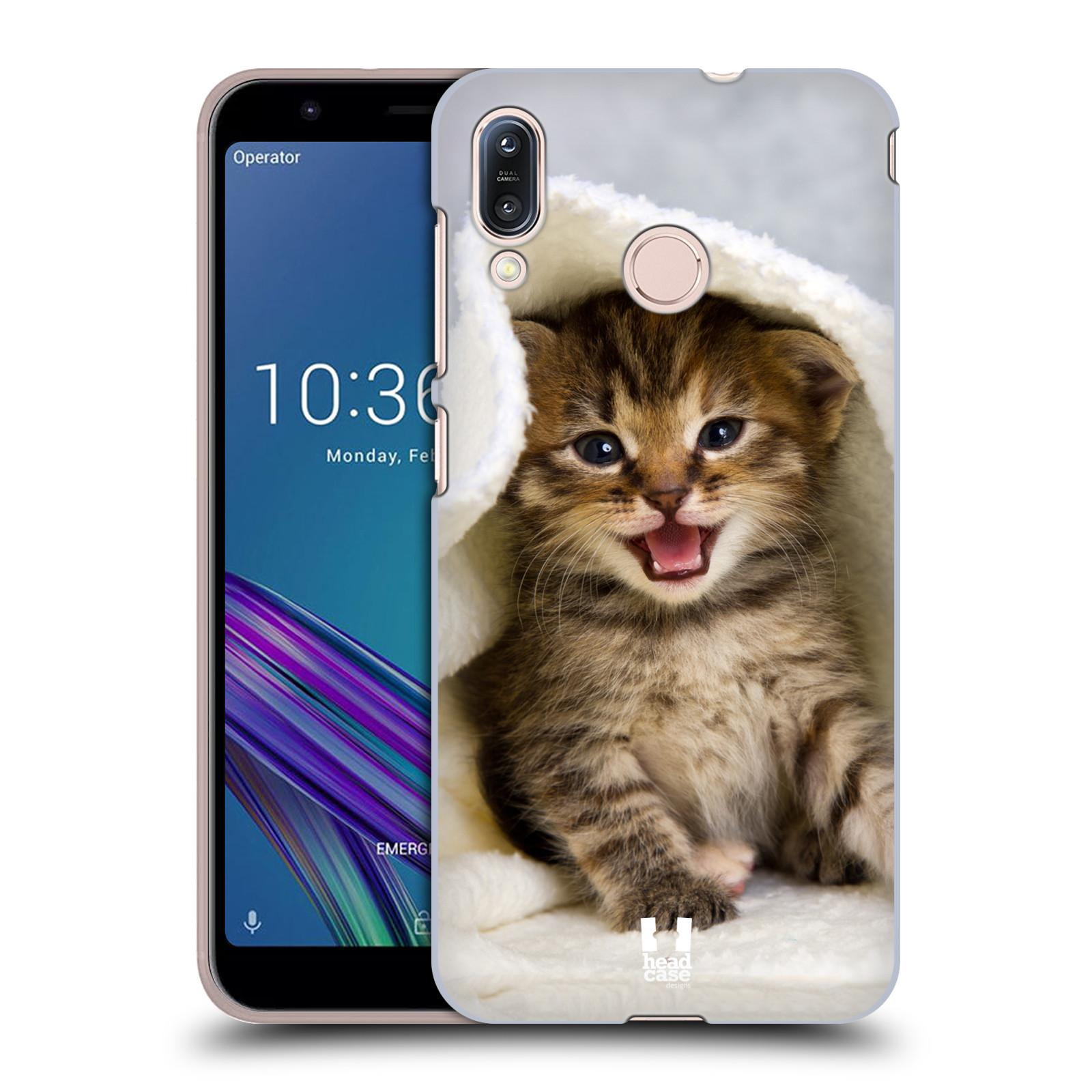 Pouzdro na mobil Asus Zenfone Max M1 (ZB555KL) - HEAD CASE - vzor Kočičky koťata foto kotě v ručníku