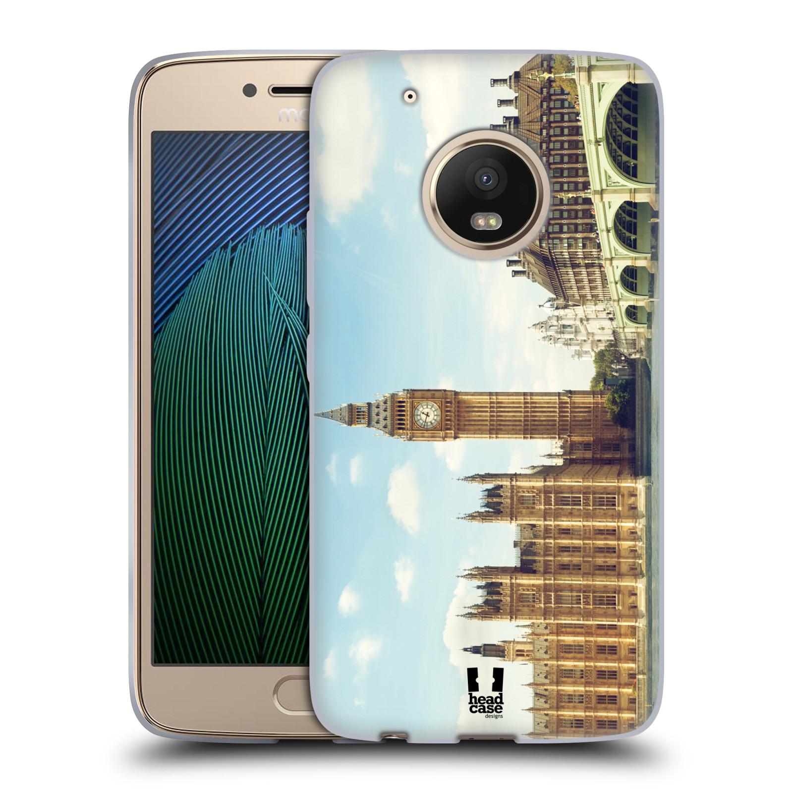 HEAD CASE silikonový obal na mobil Lenovo Moto G5 PLUS vzor Panoramata měst horizontální foto BIG BEN