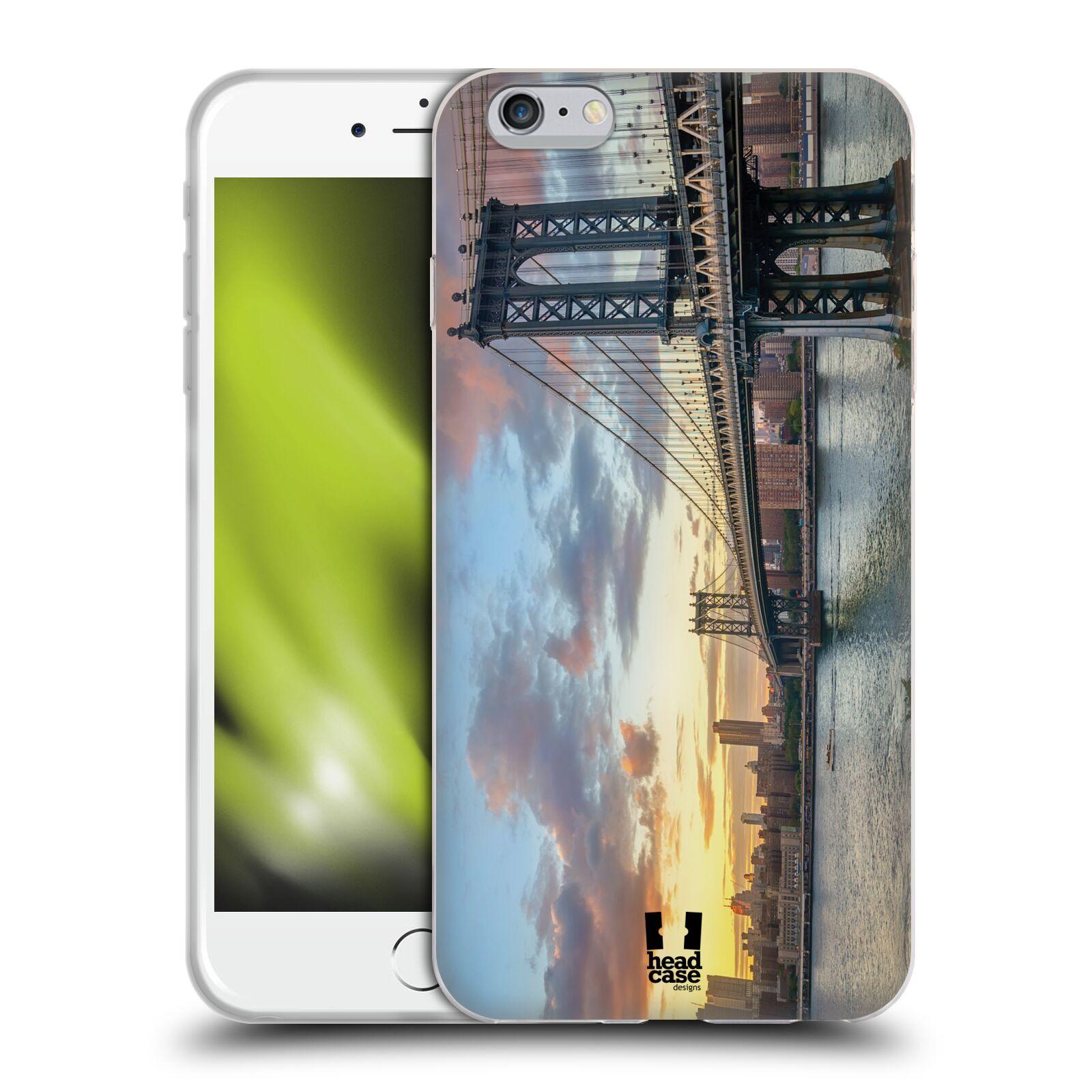 HEAD CASE silikonový obal na mobil Apple Iphone 6 PLUS  6S PLUS vzor  Panoramata měst horizontální foto MANHATTAN MOST ZÁPAD SLUNCE ef4433fd4ec