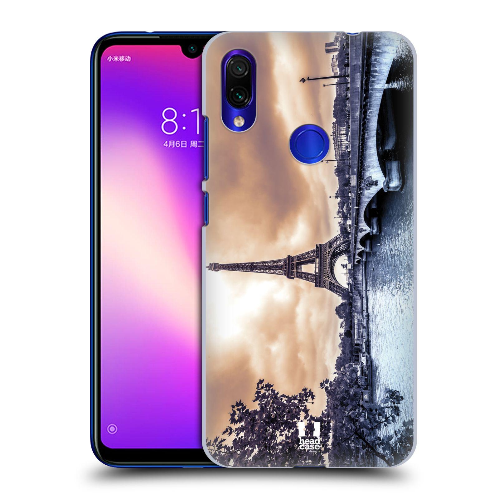 Pouzdro na mobil Xiaomi Redmi Note 7 - Head Case - vzor Panoramata měst horizontální foto DEŠTIVÝ DEN V PAŘÍŽI, FRANCIE