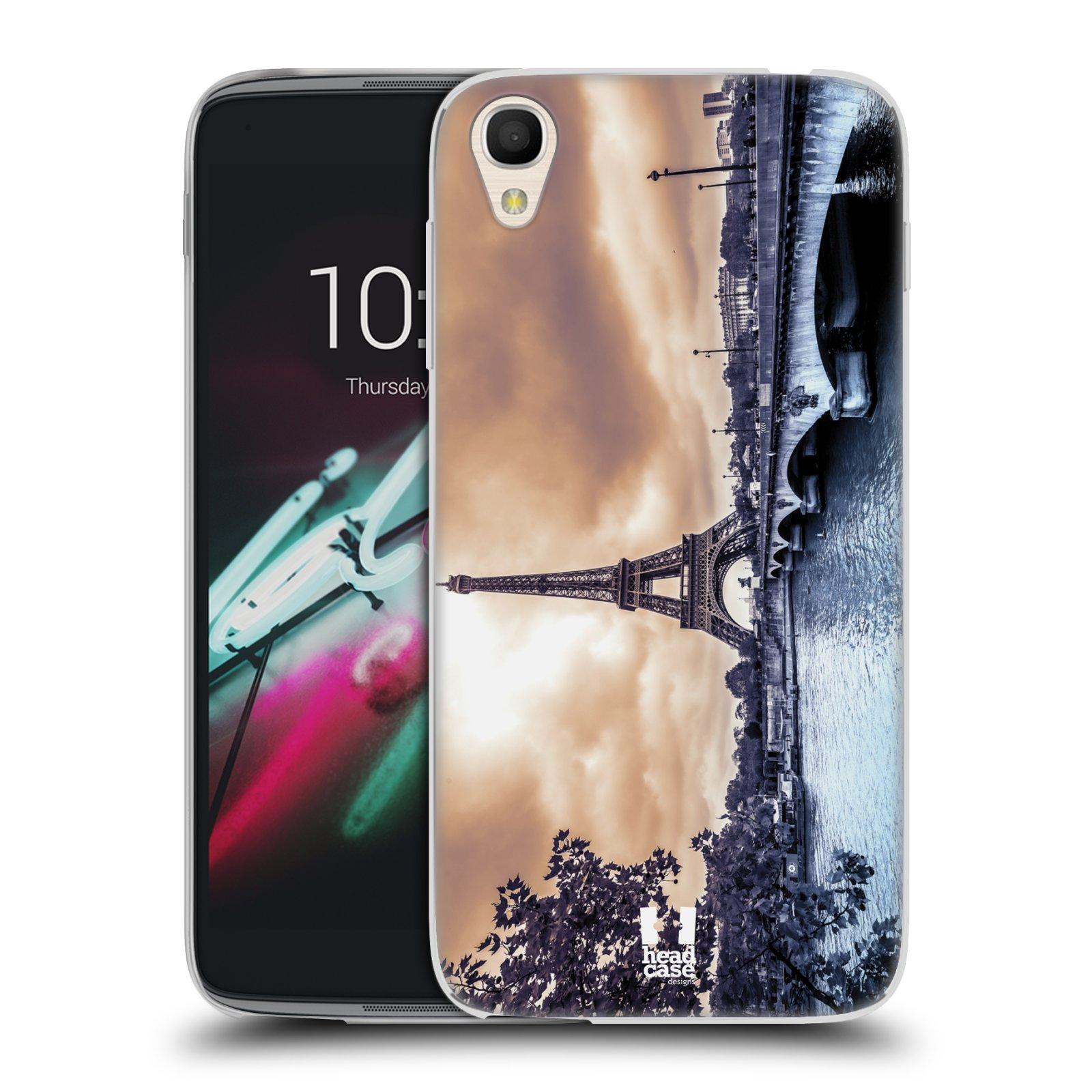 HEAD CASE silikonový obal na mobil Alcatel Idol 3 OT-6039Y (4.7) vzor Panoramata měst horizontální foto DEŠTIVÝ DEN V PAŘÍŽI, FRANCIE