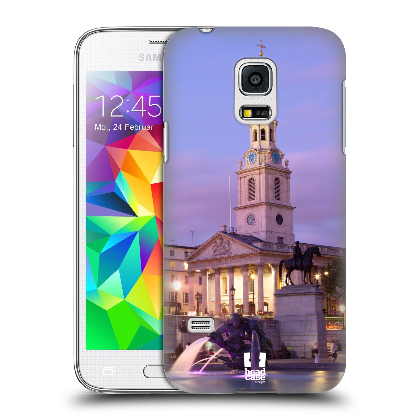 HEAD CASE plastový obal na mobil SAMSUNG Galaxy S5 MINI / S5 MINI DUOS vzor Města foto náměstí ANGLIE, LONDÝN, TRAFALGAR VĚŽ HODINY