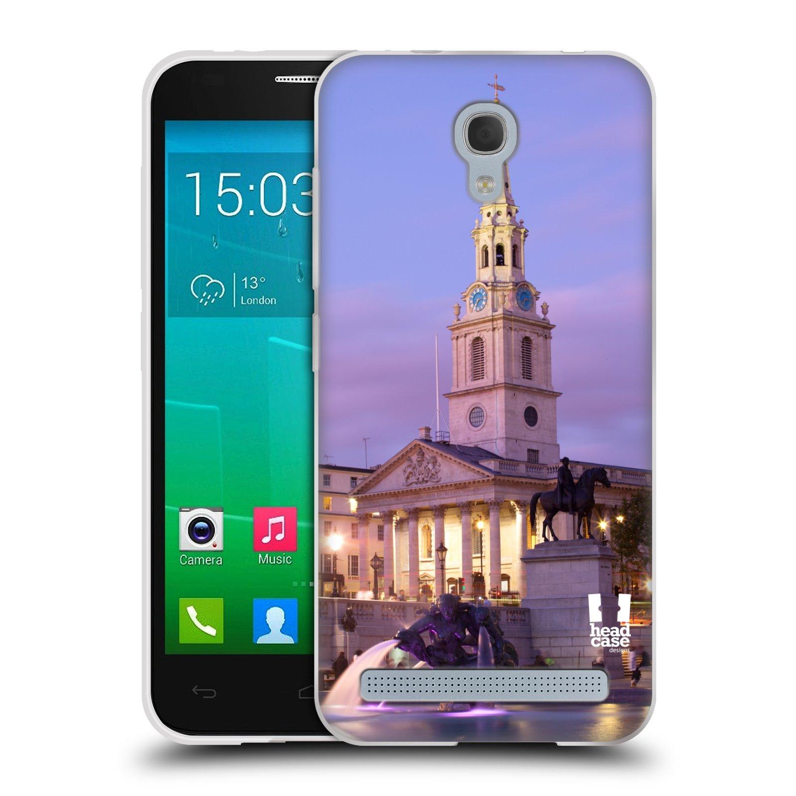 HEAD CASE silikonový obal na mobil Alcatel Idol 2 MINI S 6036Y vzor Města foto náměstí ANGLIE, LONDÝN, TRAFALGAR VĚŽ HODINY
