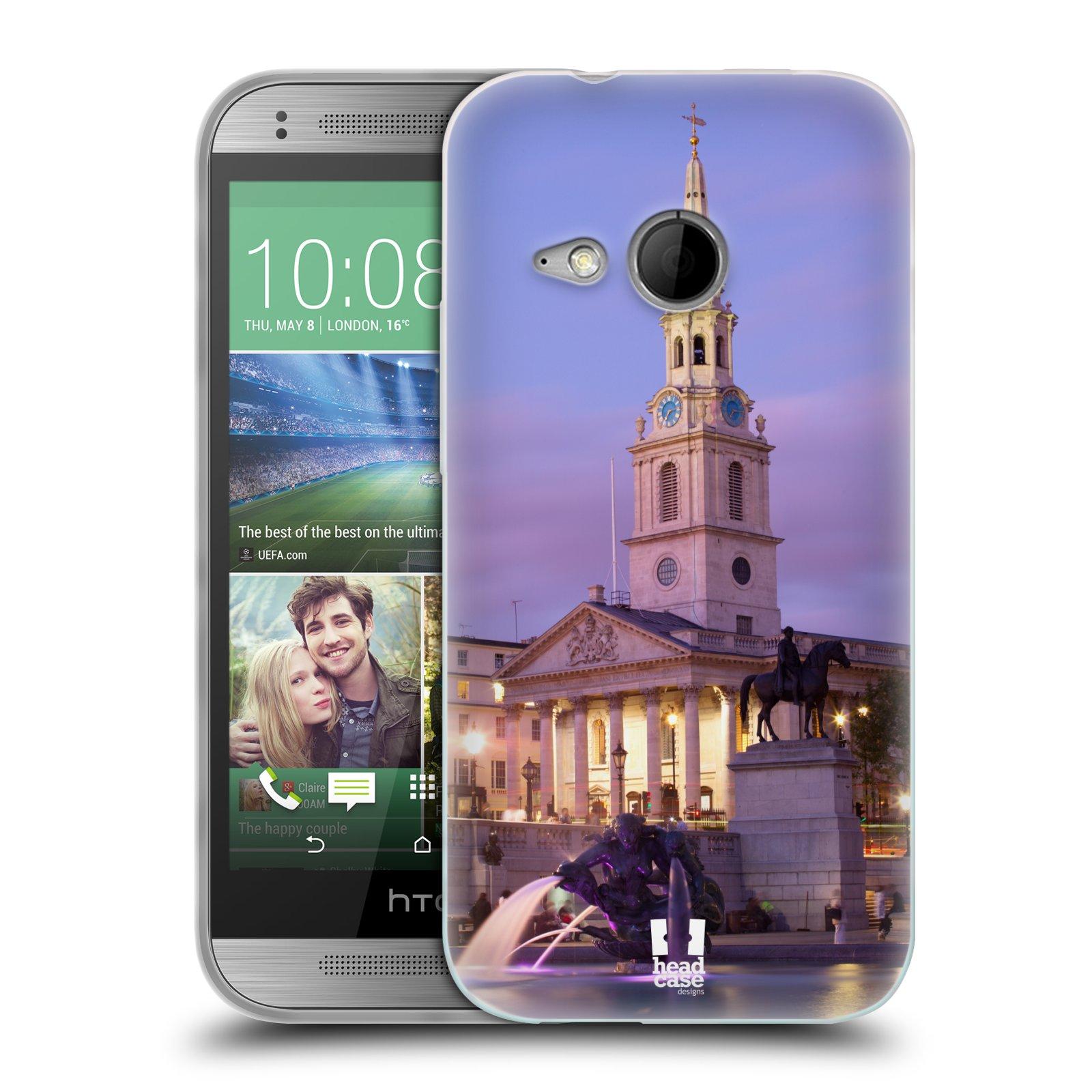 HEAD CASE silikonový obal na mobil HTC ONE MINI 2 vzor Města foto náměstí ANGLIE, LONDÝN, TRAFALGAR VĚŽ HODINY