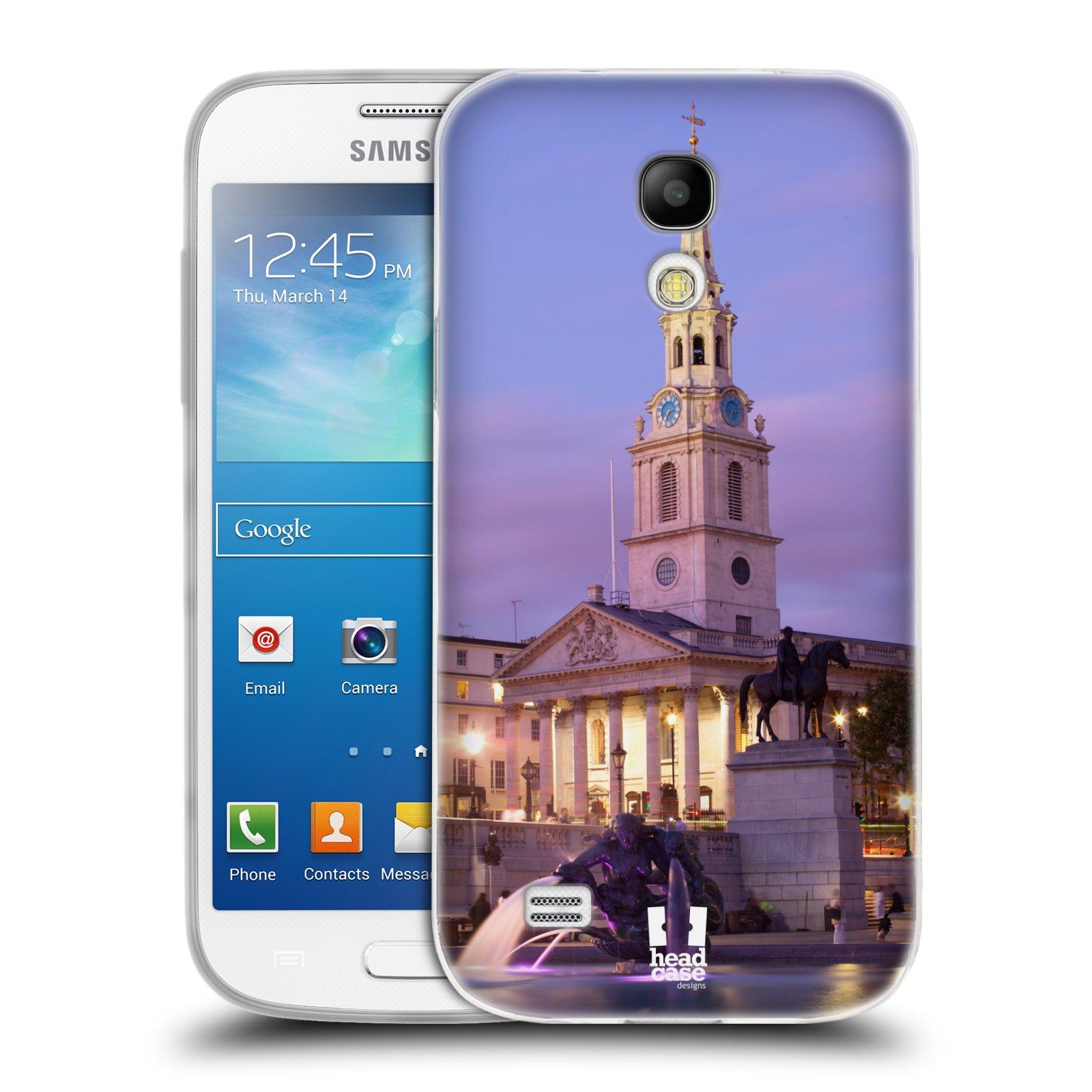 HEAD CASE silikonový obal na mobil Samsung Galaxy S4 MINI vzor Města foto náměstí ANGLIE, LONDÝN, TRAFALGAR VĚŽ HODINY