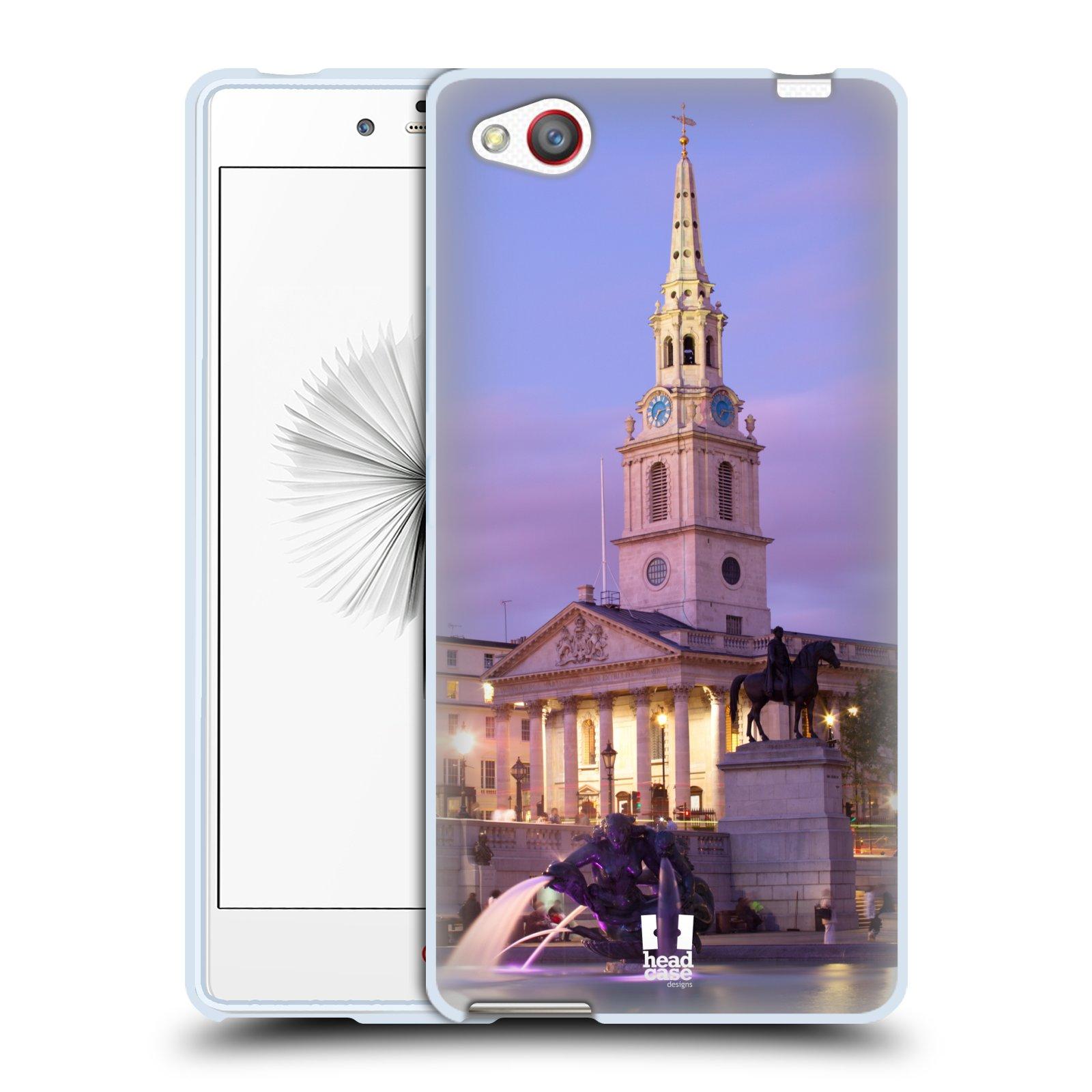 HEAD CASE silikonový obal na mobil ZTE NUBIA Z9 MINI vzor Města foto náměstí ANGLIE, LONDÝN, TRAFALGAR VĚŽ HODINY