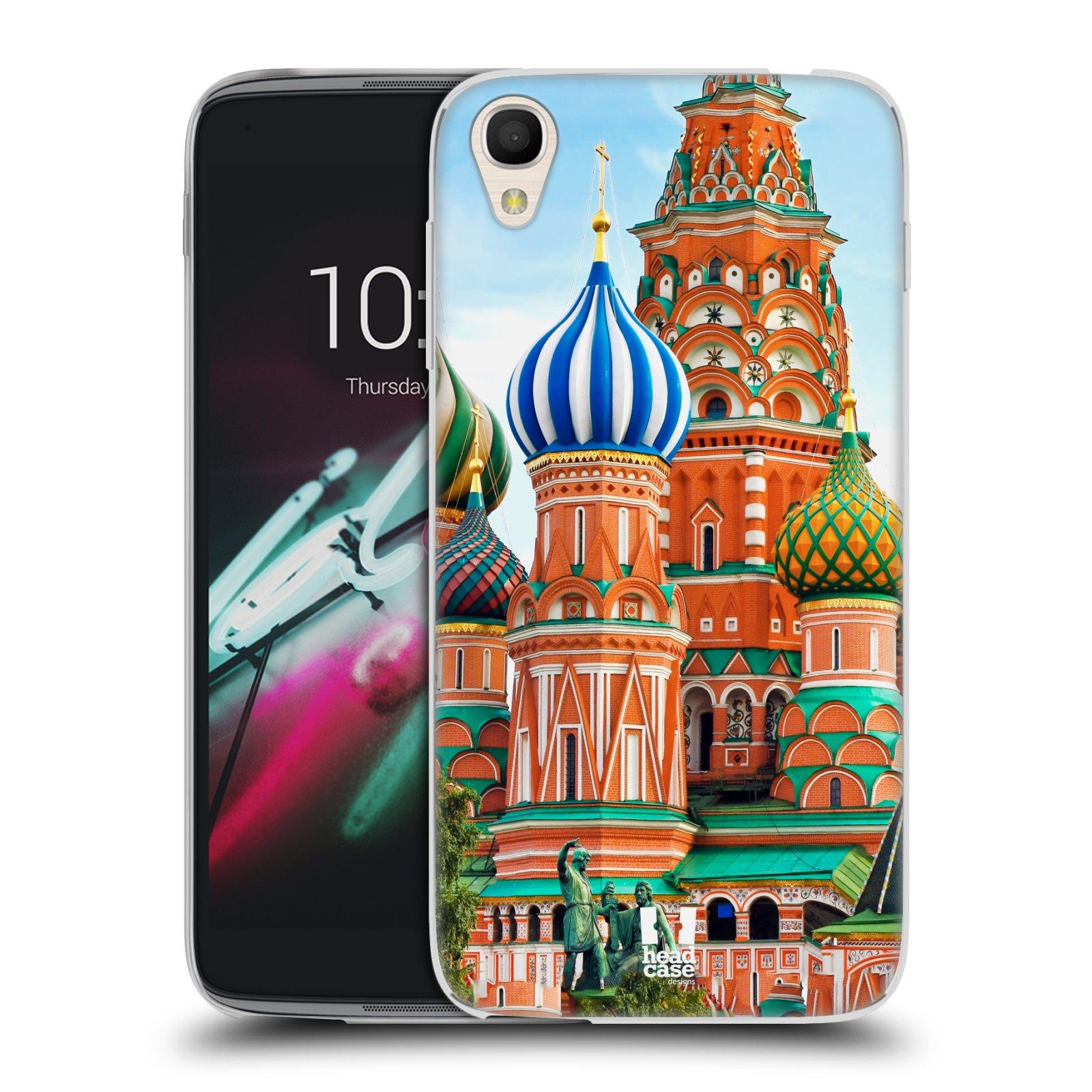 HEAD CASE silikonový obal na mobil Alcatel Idol 3 OT-6039Y (4.7) vzor Města foto náměstí RUSKO,MOSKVA, RUDÉ NÁMĚSTÍ