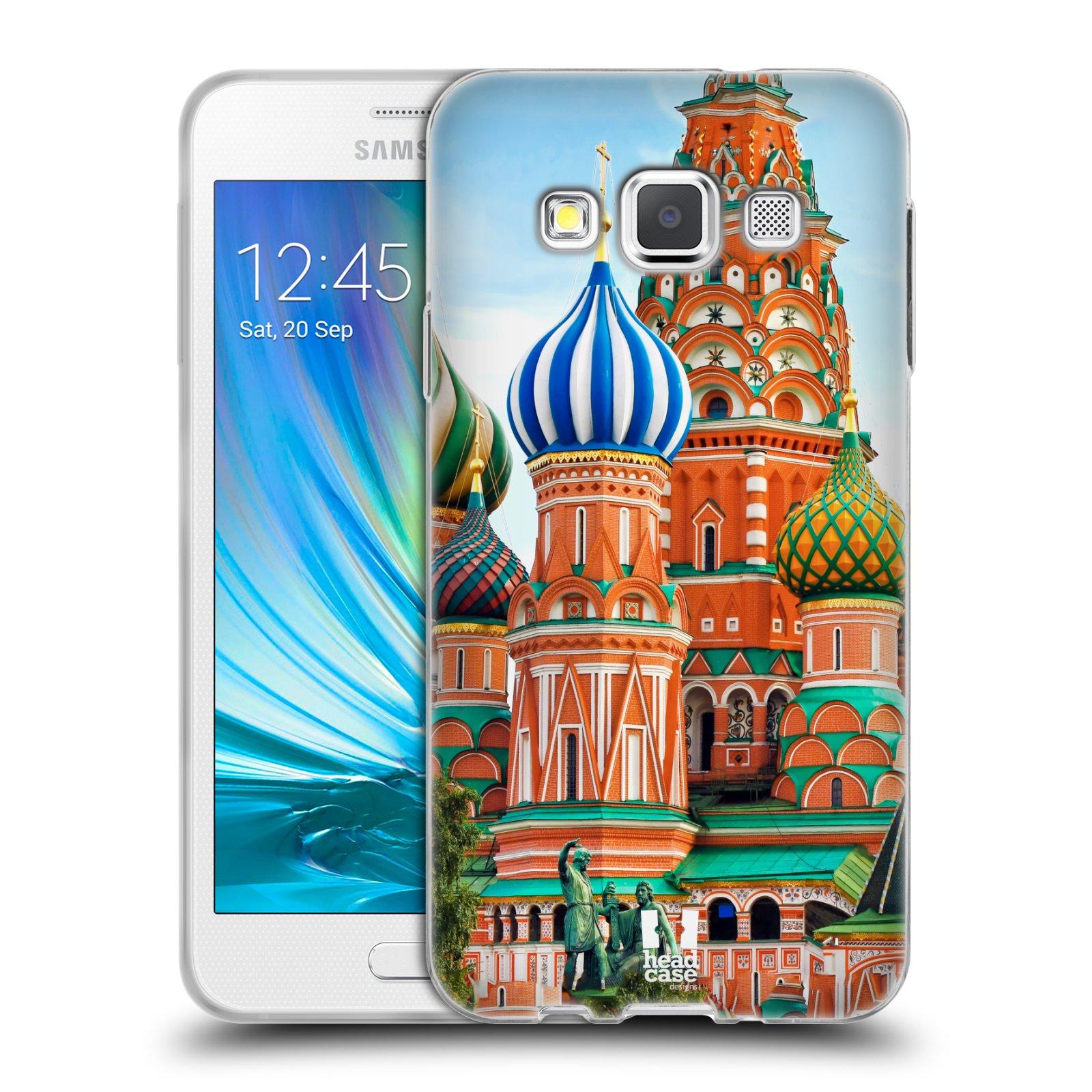 HEAD CASE silikonový obal na mobil Samsung Galaxy A3 vzor Města foto náměstí RUSKO,MOSKVA, RUDÉ NÁMĚSTÍ
