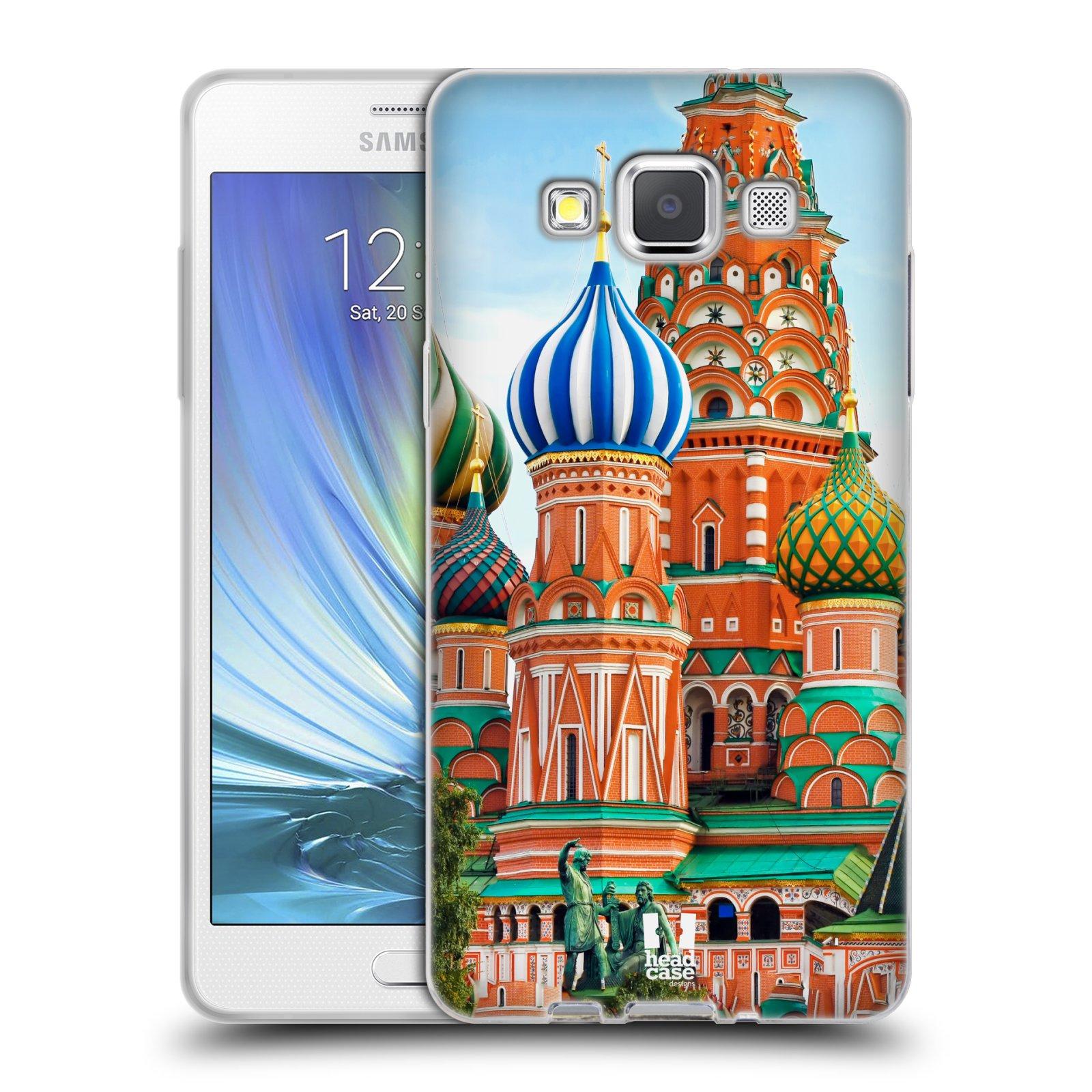 HEAD CASE silikonový obal na mobil Samsung Galaxy A5 vzor Města foto náměstí RUSKO,MOSKVA, RUDÉ NÁMĚSTÍ