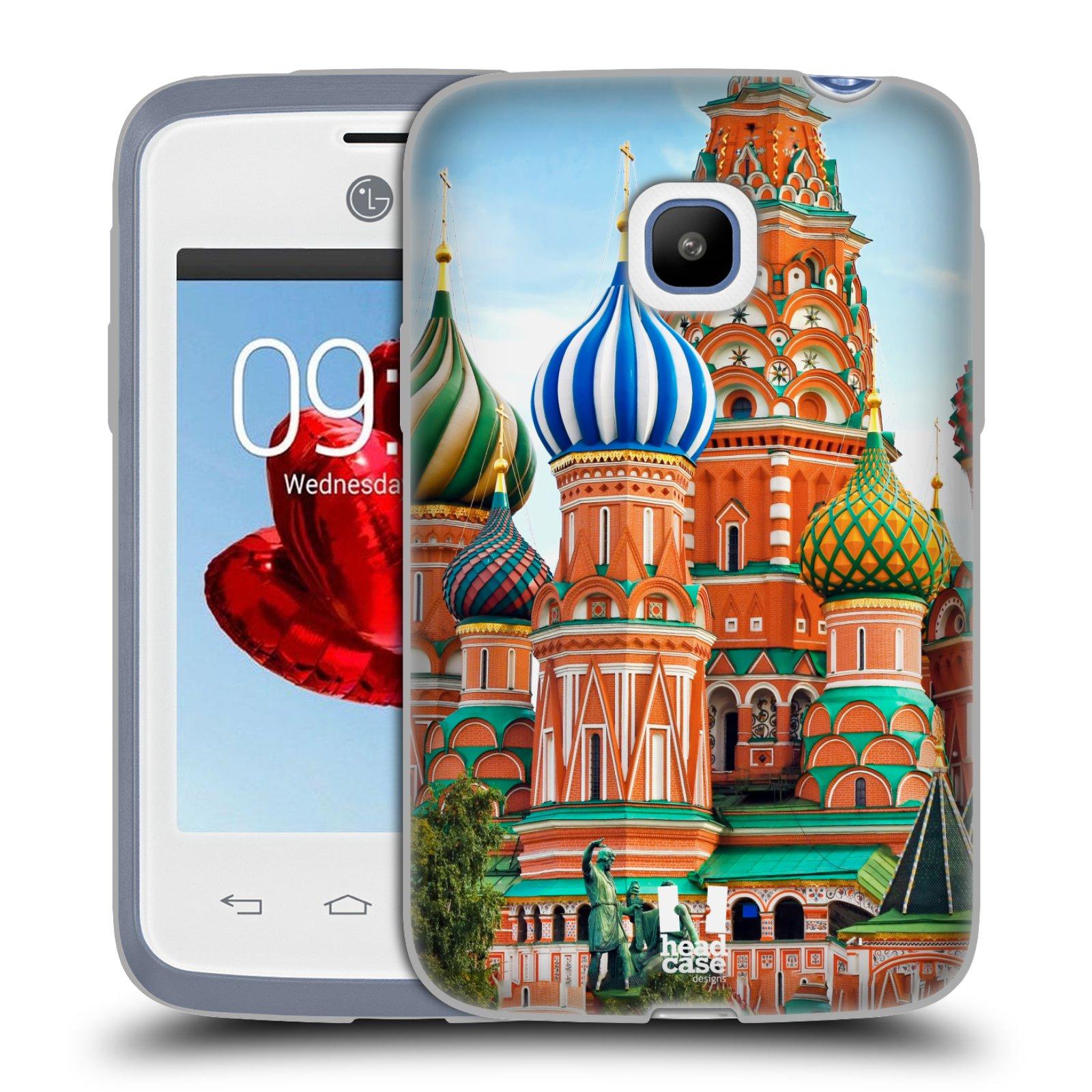 HEAD CASE silikonový obal na mobil LG L20 vzor Města foto náměstí RUSKO,MOSKVA, RUDÉ NÁMĚSTÍ