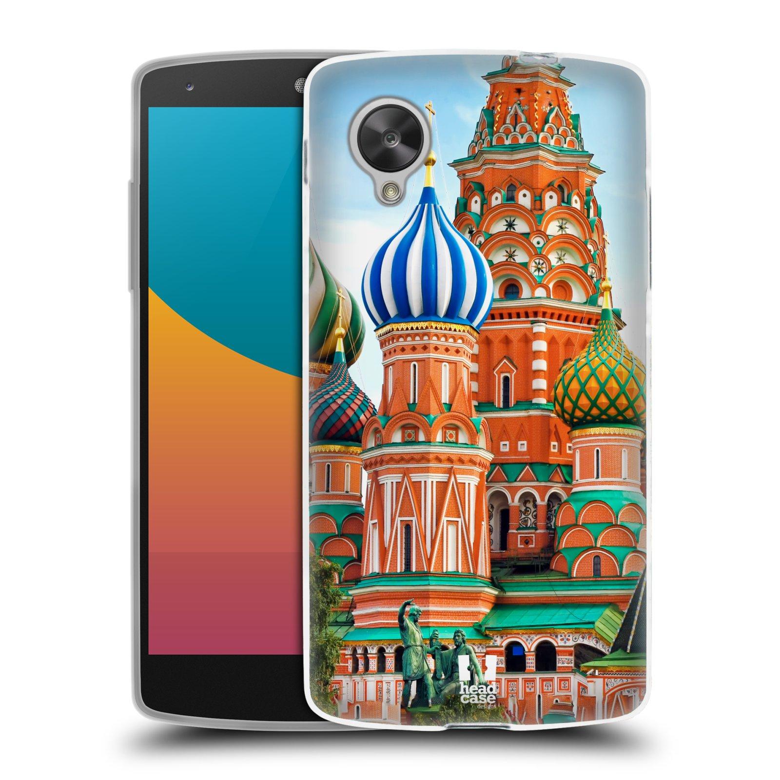 HEAD CASE silikonový obal na mobil LG NEXUS 5 (D821) vzor Města foto náměstí RUSKO,MOSKVA, RUDÉ NÁMĚSTÍ