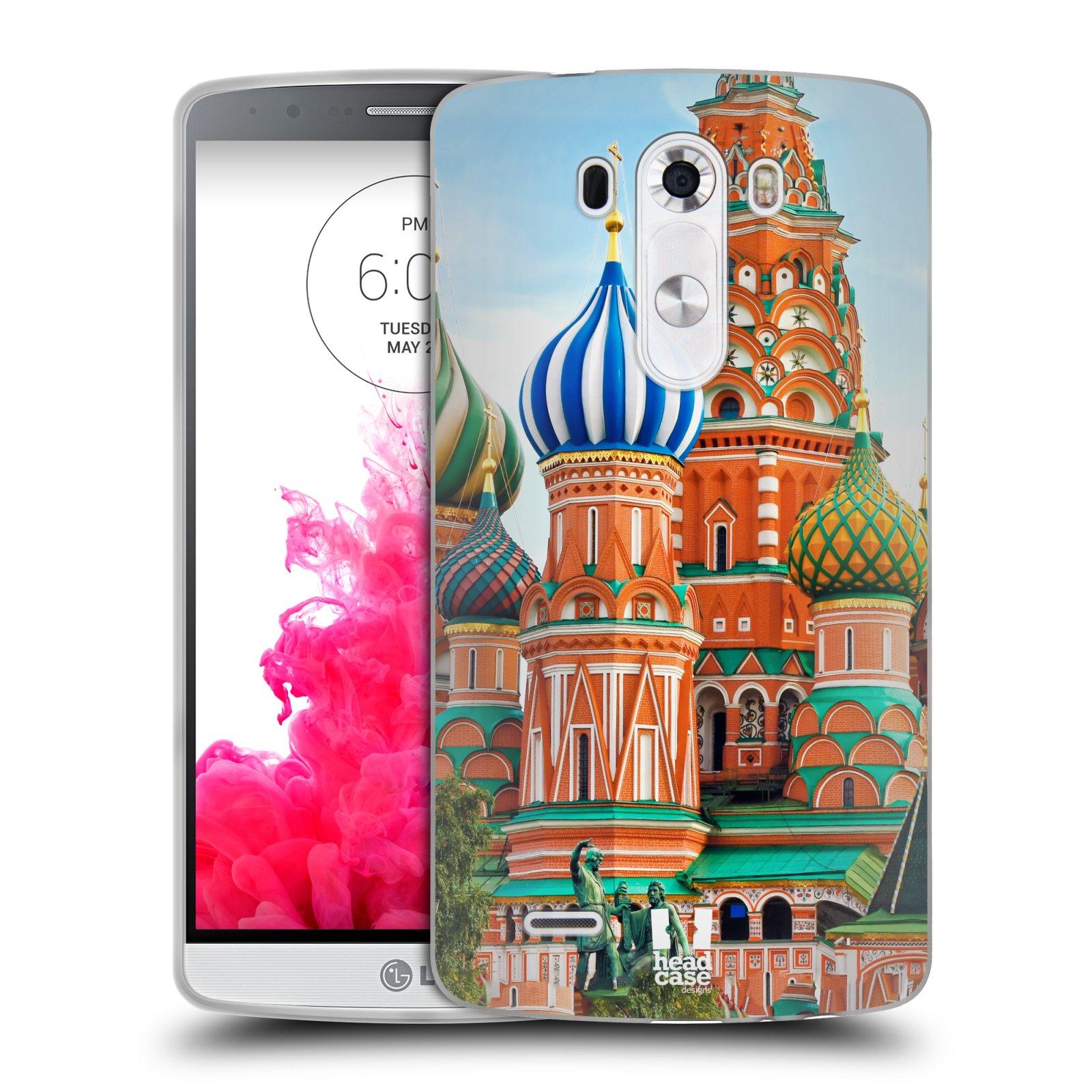 HEAD CASE silikonový obal na mobil LG G3 vzor Města foto náměstí RUSKO,MOSKVA, RUDÉ NÁMĚSTÍ