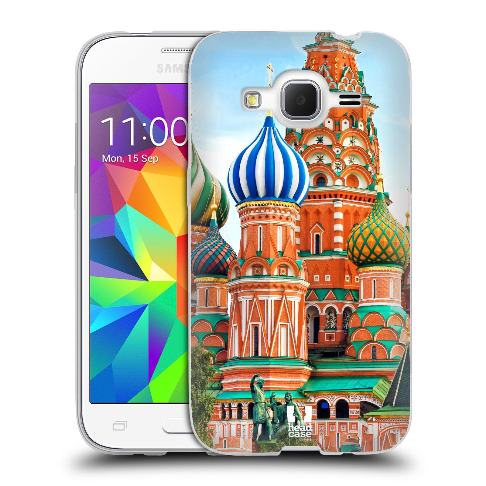 HEAD CASE silikonový obal na mobil Samsung Galaxy Core Prime (G360) vzor Města foto náměstí RUSKO,MOSKVA, RUDÉ NÁMĚSTÍ