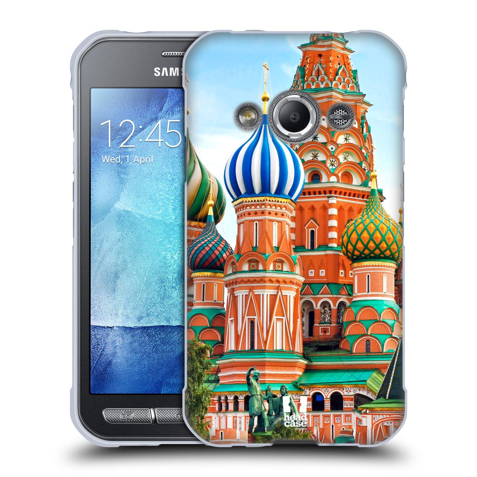 HEAD CASE silikonový obal na mobil Samsung Galaxy Xcover 3 vzor Města foto náměstí RUSKO,MOSKVA, RUDÉ NÁMĚSTÍ