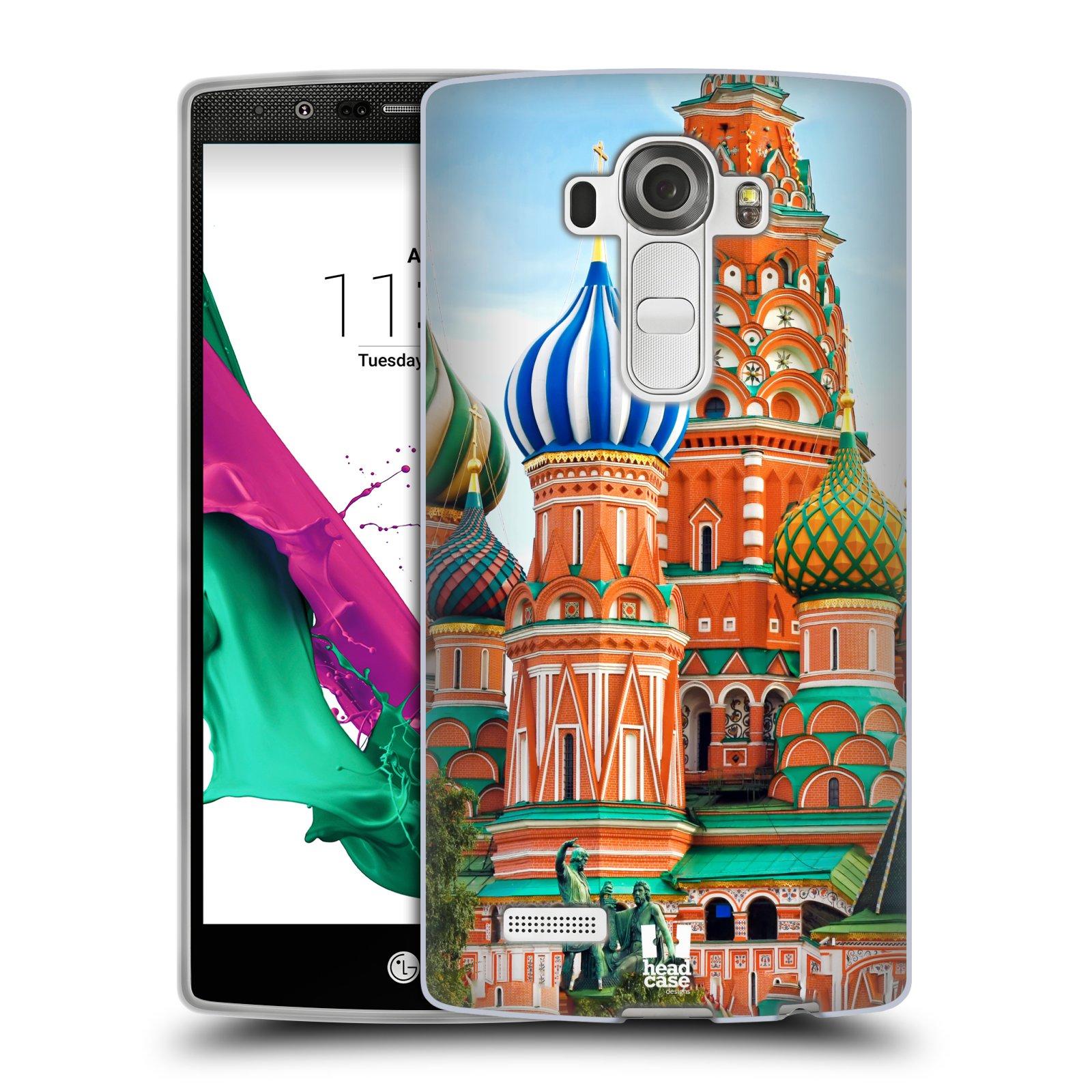 HEAD CASE silikonový obal na mobil LG G4 vzor Města foto náměstí RUSKO,MOSKVA, RUDÉ NÁMĚSTÍ