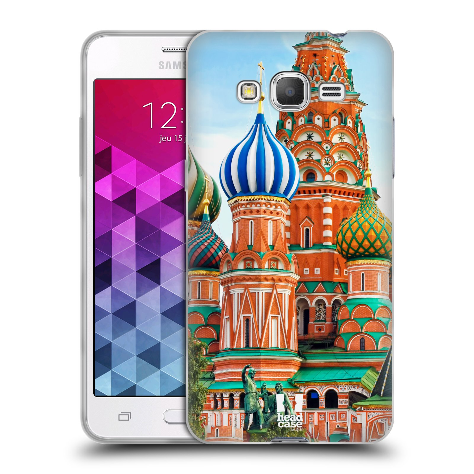HEAD CASE silikonový obal na mobil Samsung Galaxy GRAND PRIME vzor Města foto náměstí RUSKO,MOSKVA, RUDÉ NÁMĚSTÍ