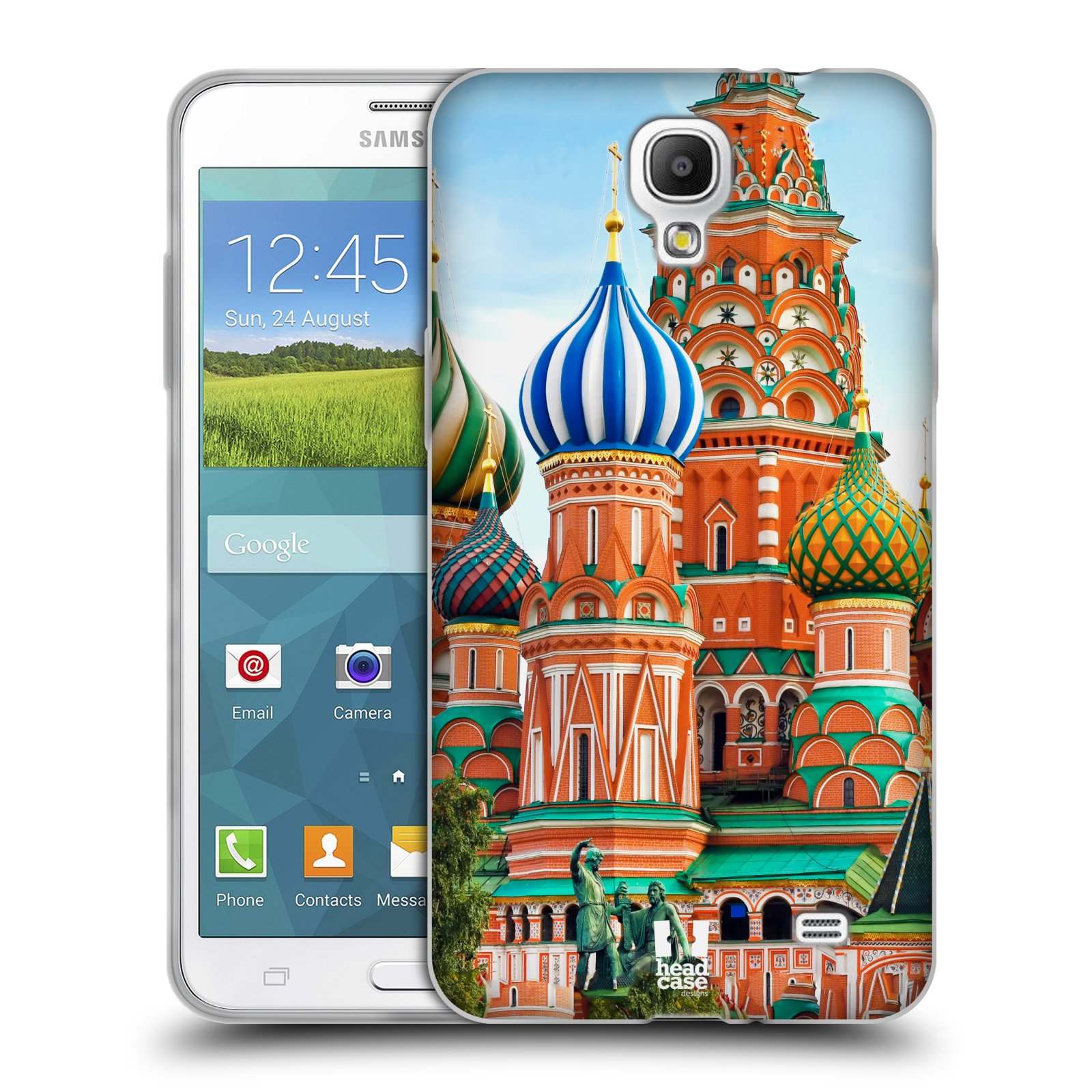 HEAD CASE silikonový obal na mobil Samsung Galaxy Mega 2 vzor Města foto náměstí RUSKO,MOSKVA, RUDÉ NÁMĚSTÍ