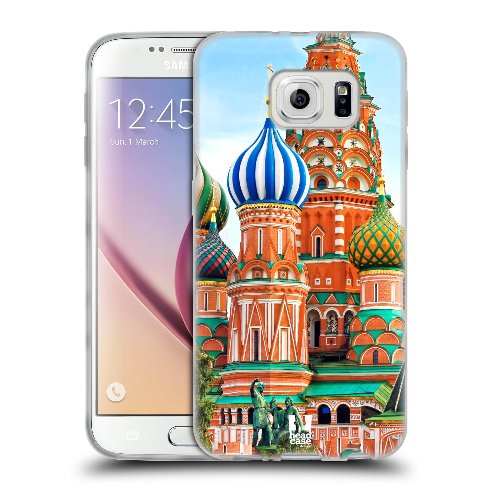 HEAD CASE silikonový obal na mobil Samsung Galaxy S6 vzor Města foto náměstí RUSKO,MOSKVA, RUDÉ NÁMĚSTÍ