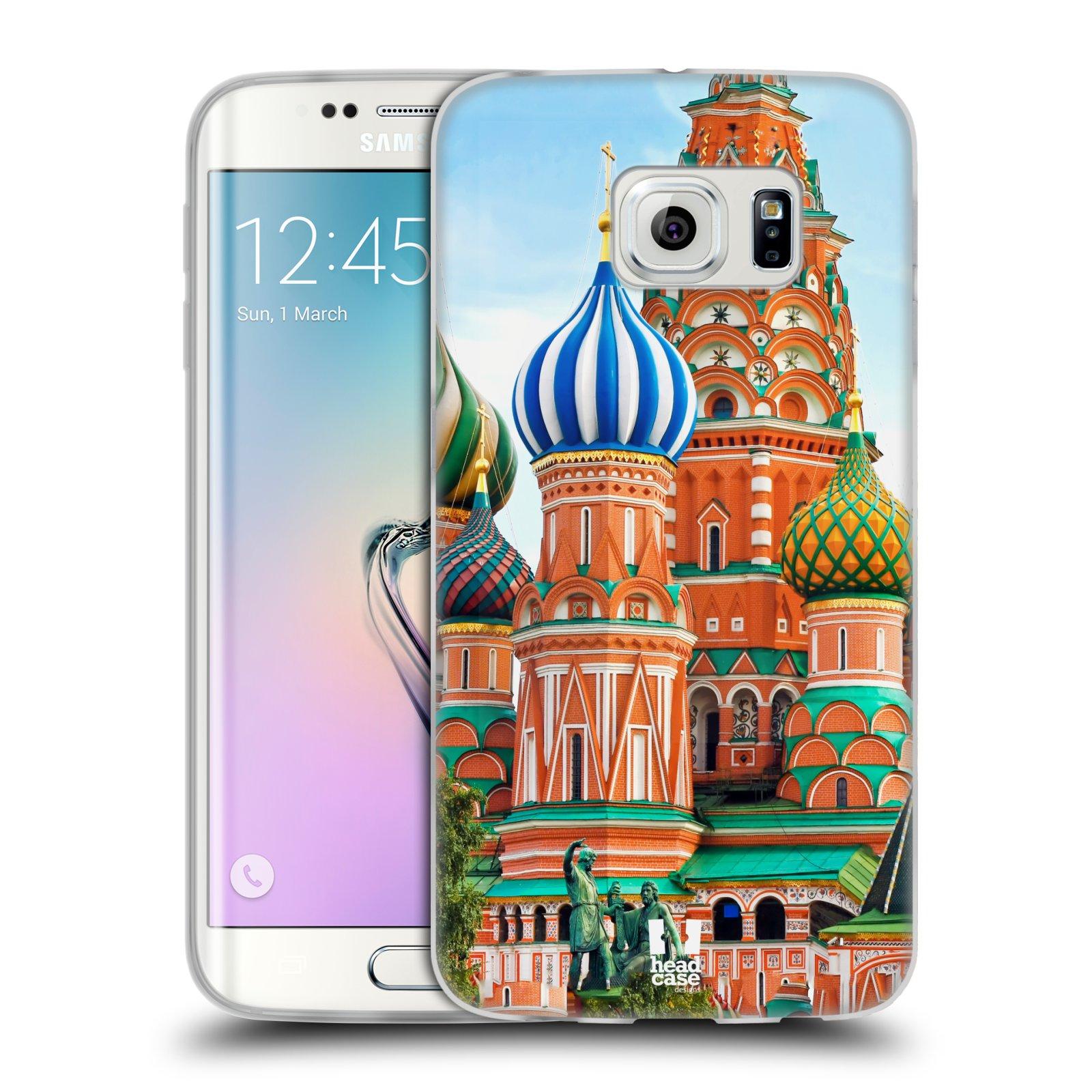 HEAD CASE silikonový obal na mobil Samsung Galaxy S6 EDGE vzor Města foto náměstí RUSKO,MOSKVA, RUDÉ NÁMĚSTÍ