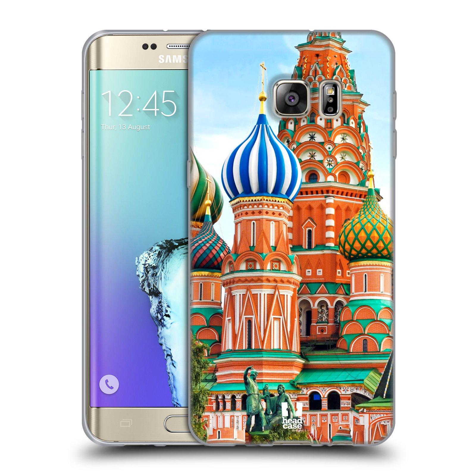 HEAD CASE silikonový obal na mobil Samsung Galaxy S6 EDGE PLUS vzor Města foto náměstí RUSKO,MOSKVA, RUDÉ NÁMĚSTÍ